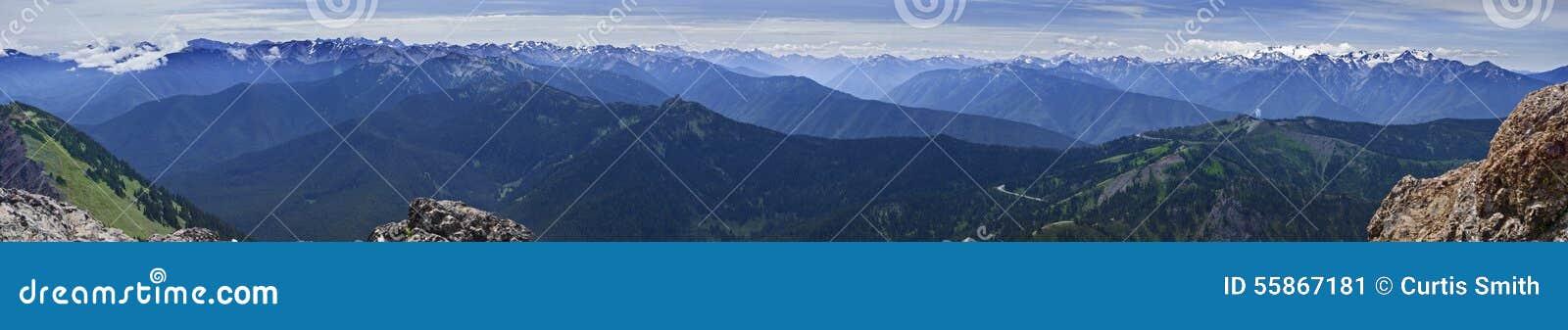 Штат Вашингтон США гор национального парка панорамы олимпийский