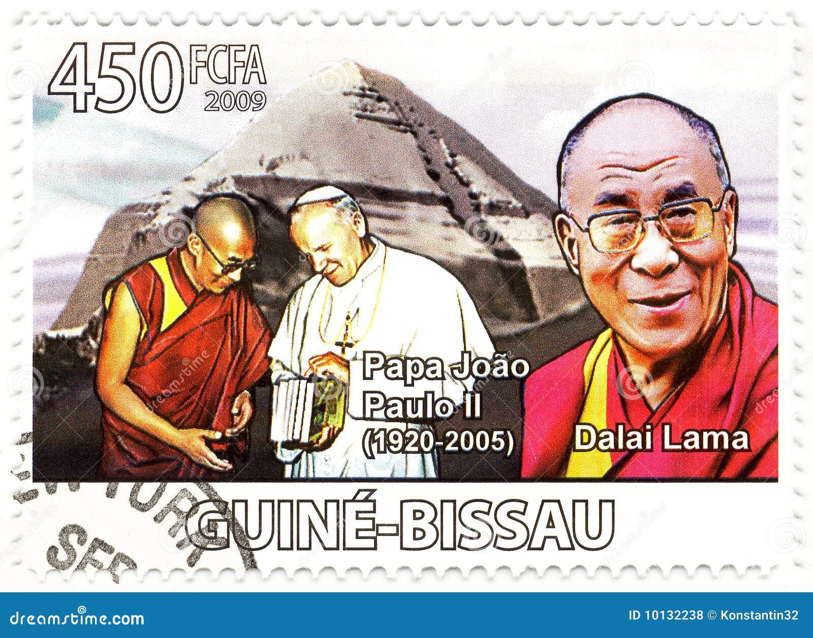 штемпель Паыля папы lama dalai ii