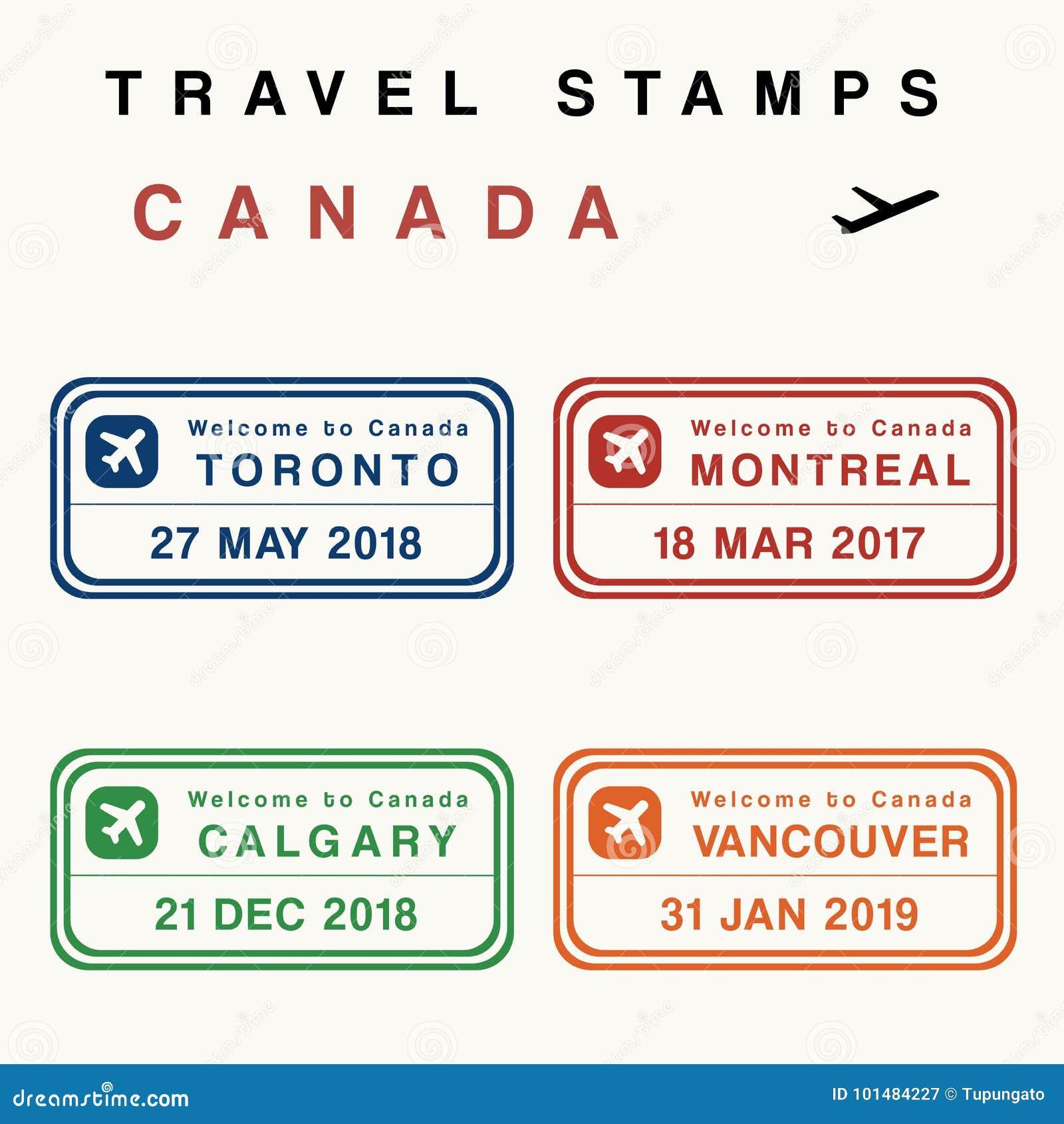 Штемпеля перемещения Канады