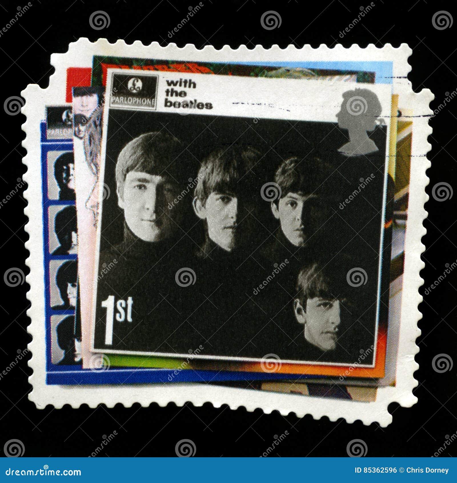 Штемпель почтового сбора Beatles Великобритании