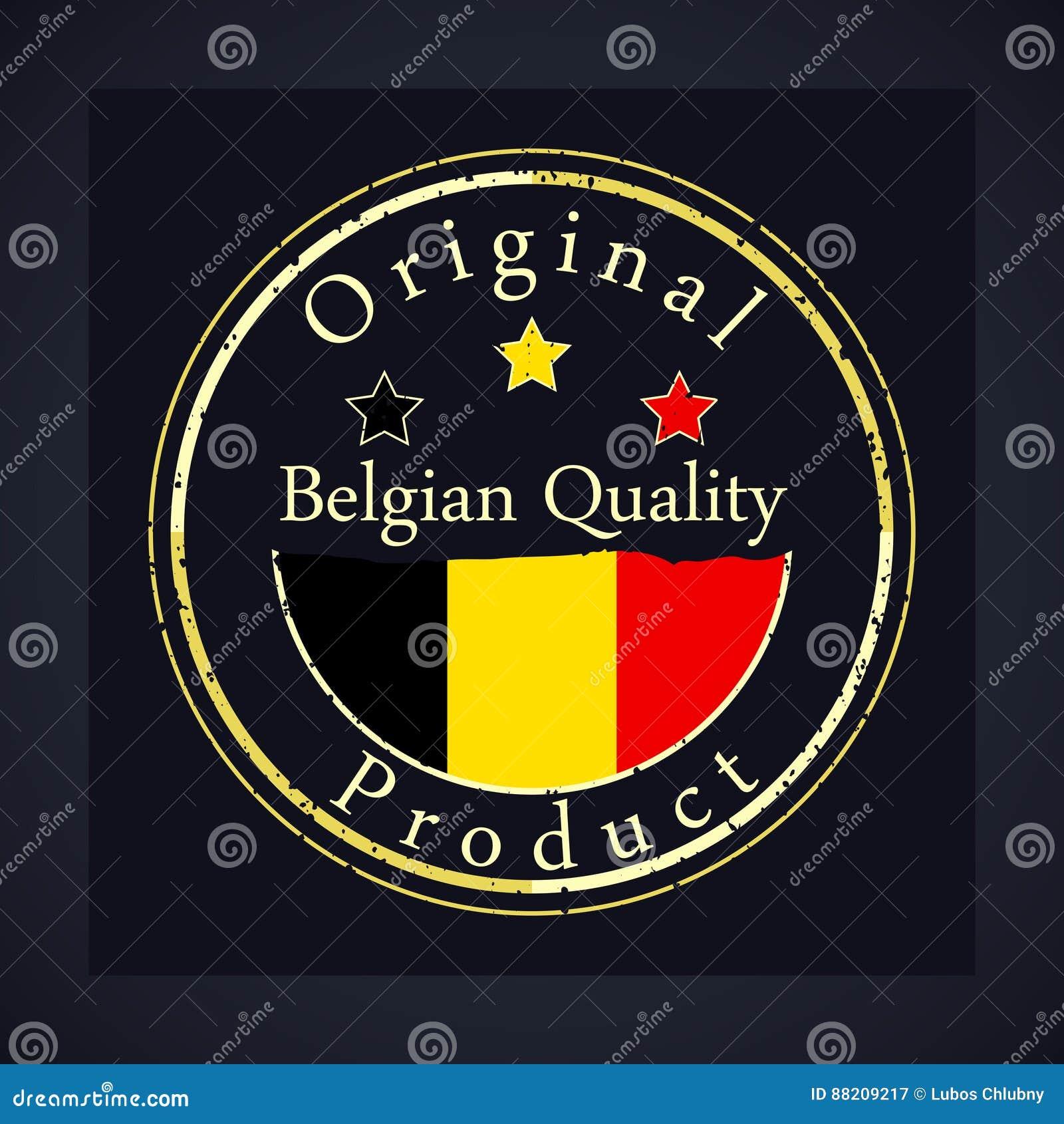 Штемпель grunge золота с качеством текста бельгийским и первоначально продуктом