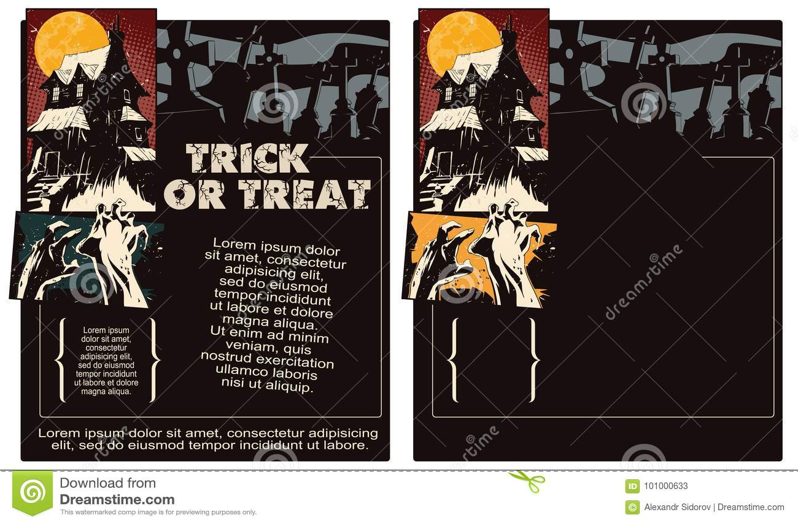 шток померанца иллюстрации предпосылки яркий Рогулька шаблона хеллоуина