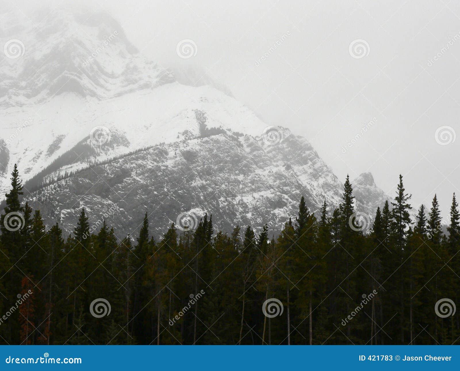 шторм снежка горы каскада