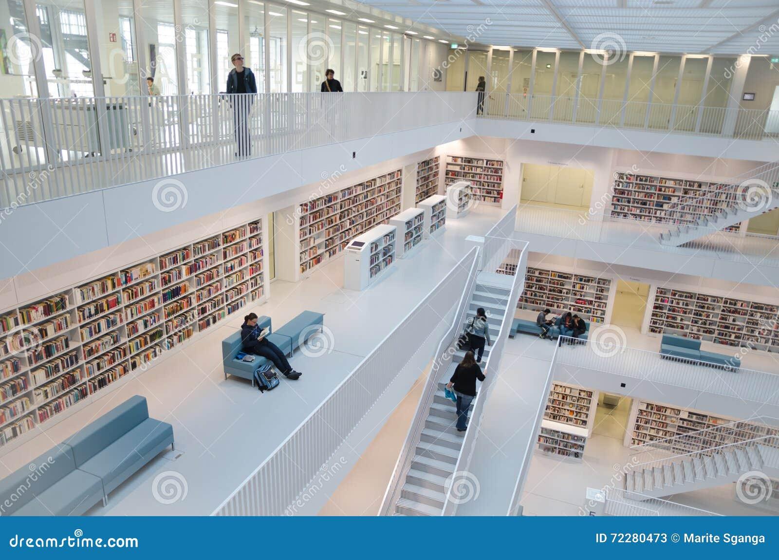 Download Штутгарт, Германия - 21-ое мая 2015: Публичная библиотека Штутгарта, Редакционное Стоковое Фото - изображение насчитывающей каталог, armer: 72280473