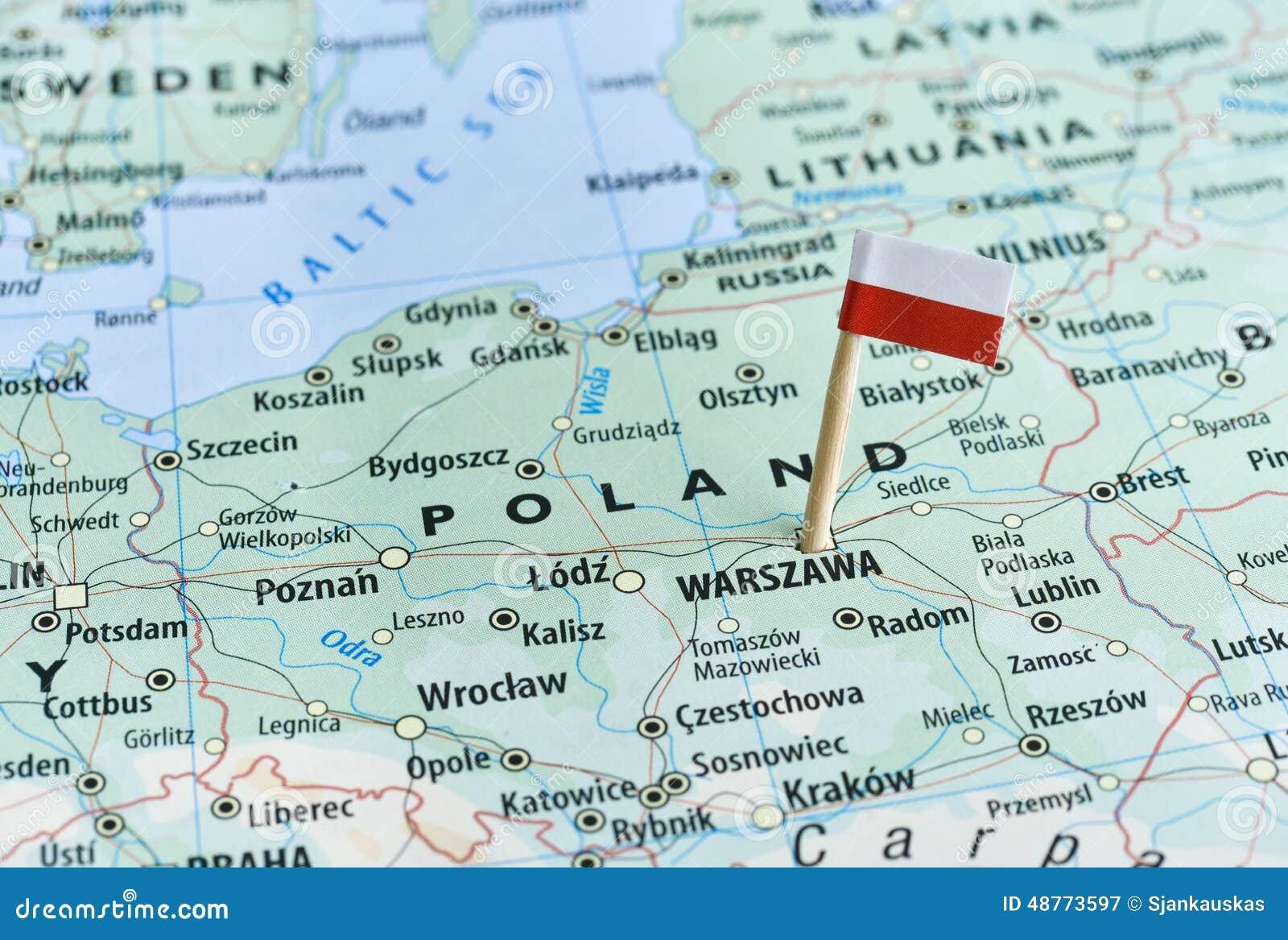 Штырь флага карты Польши