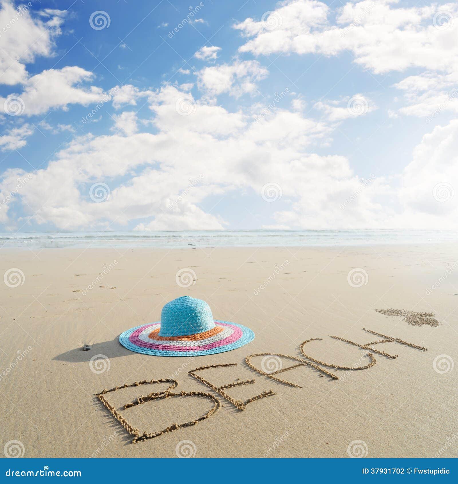 Шляпа на пляже в krabe Таиланде