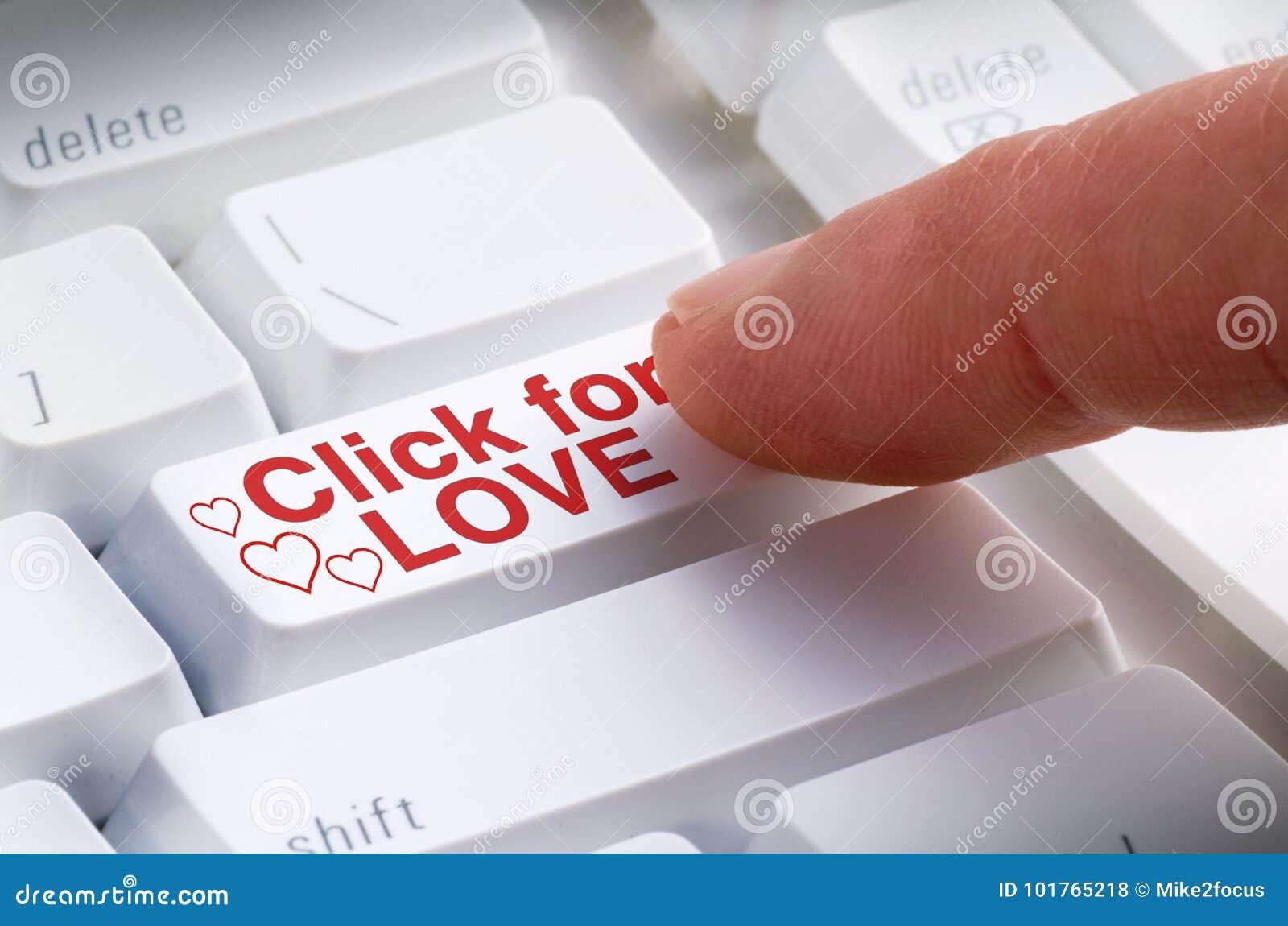 Щелчок для кнопки ВЛЮБЛЕННОСТИ на поиске датировка клавиатуры компьютера онлайн