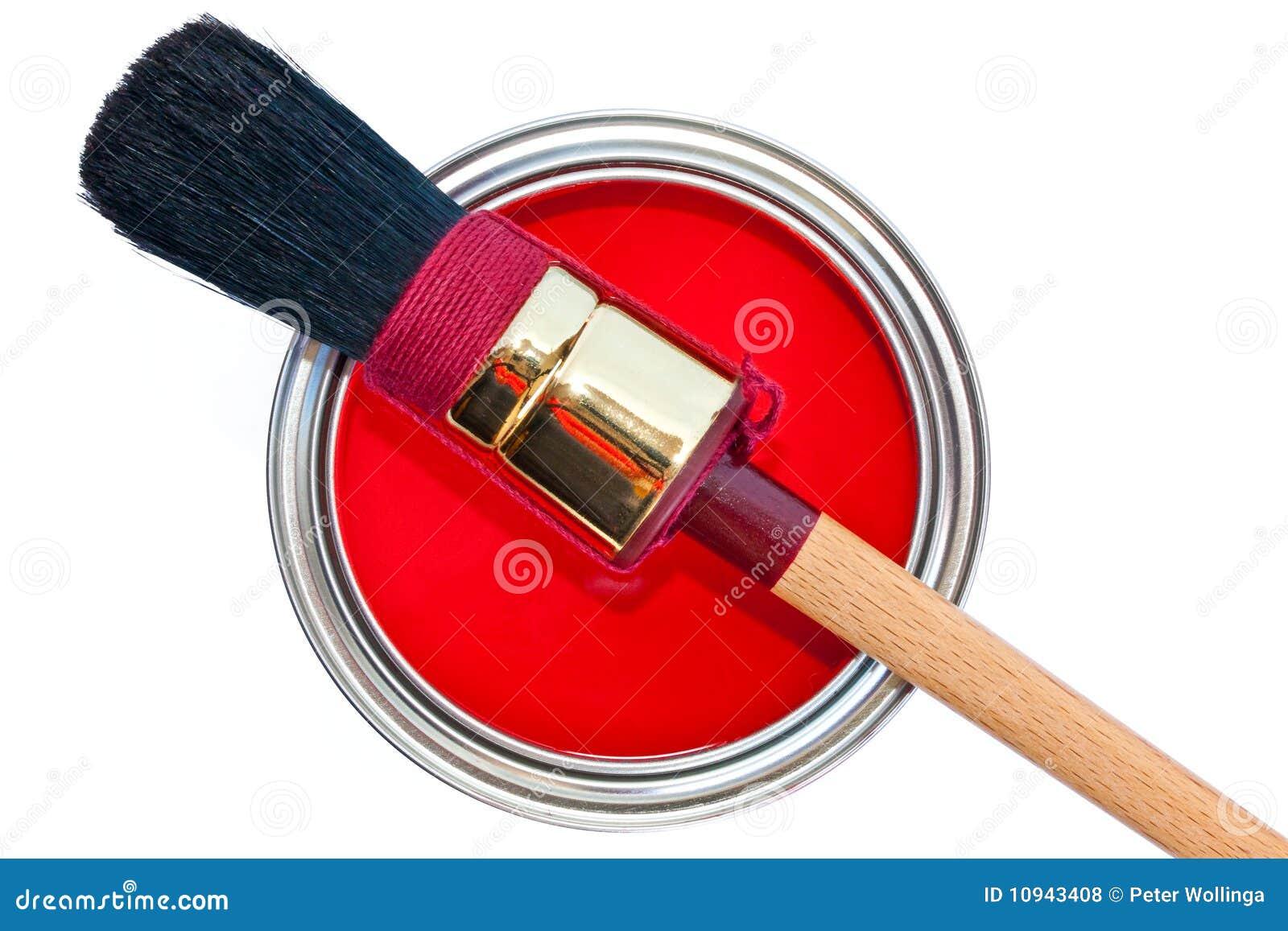 щетка может изолированная белизна краски