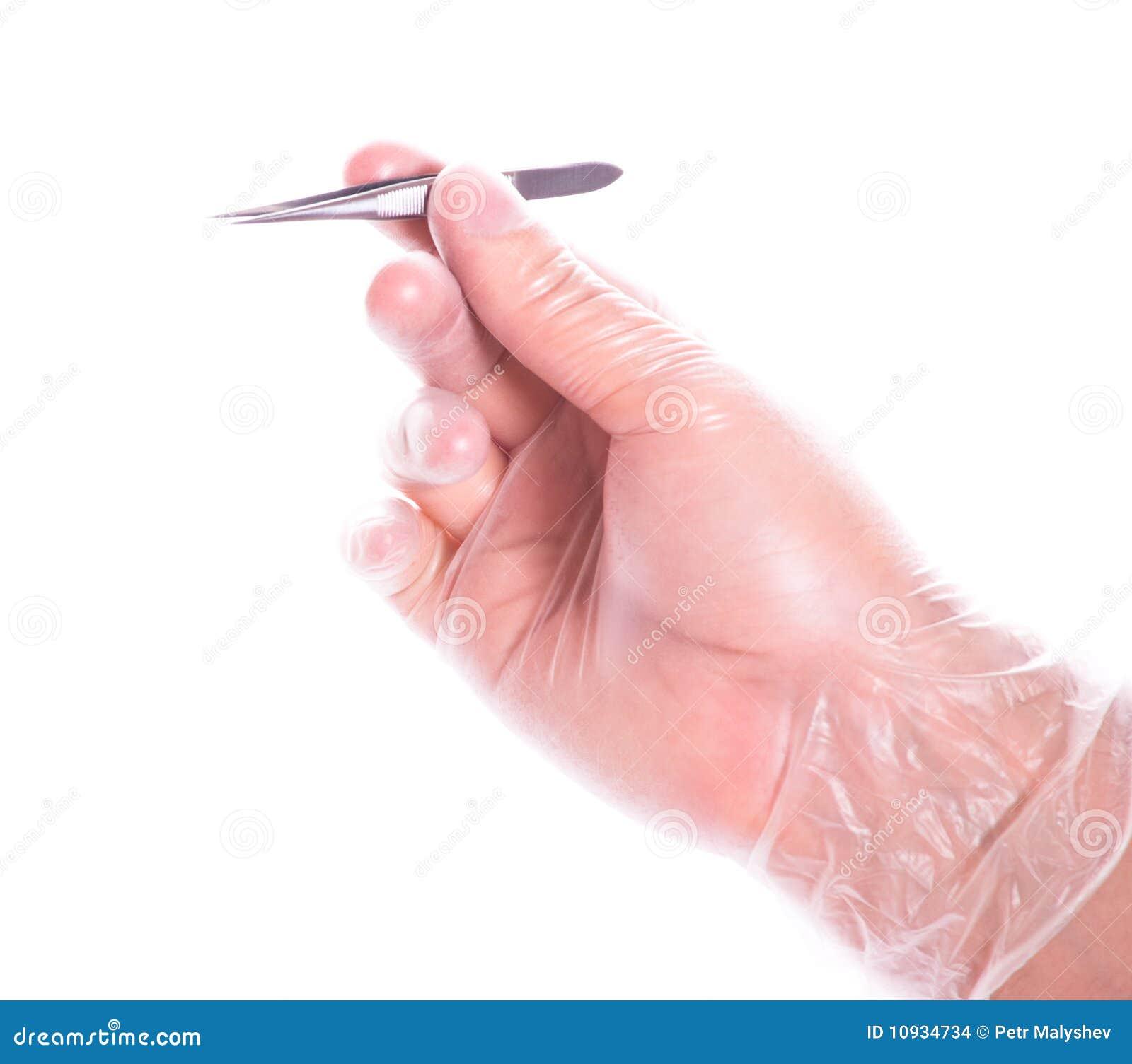 щипчики резины удерживания руки перчатки