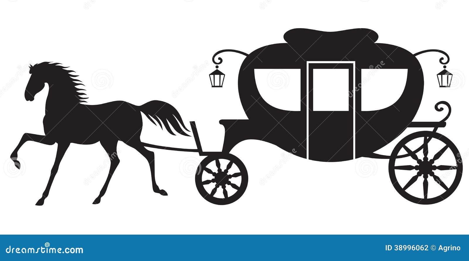 Экипаж и лошадь