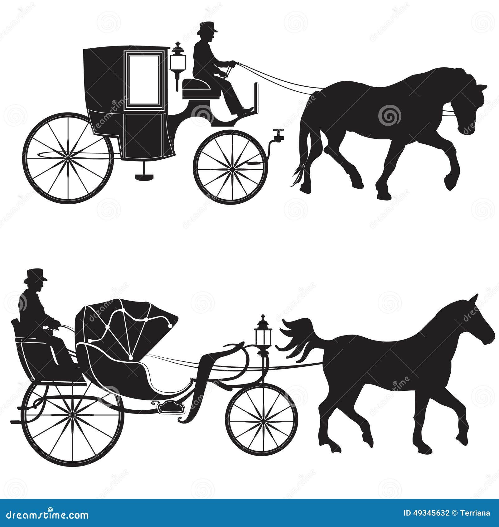 Экипаж с лошадью комплект Hansom-кабины