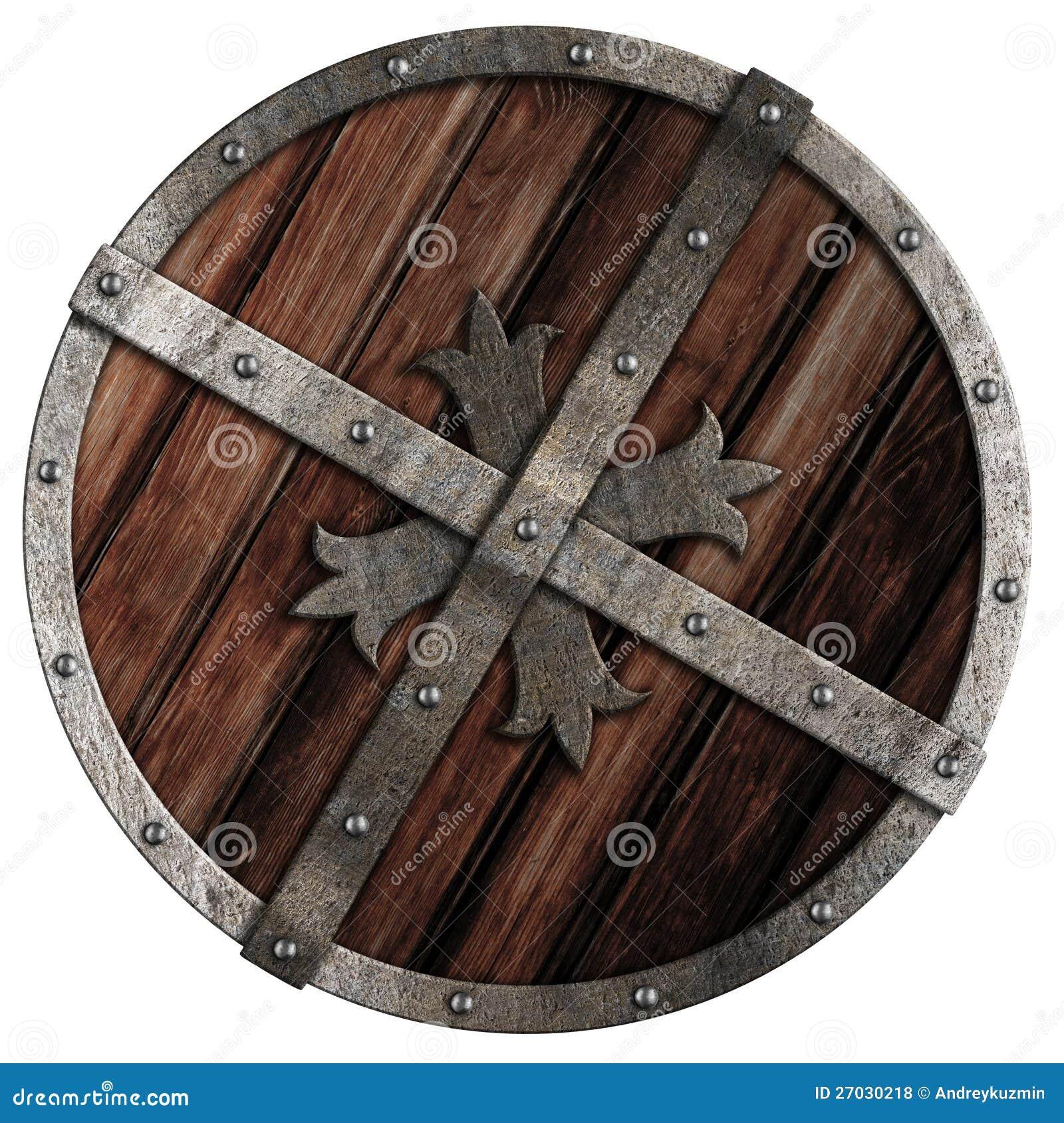 Экран старого крестоносца деревянный с границей металла