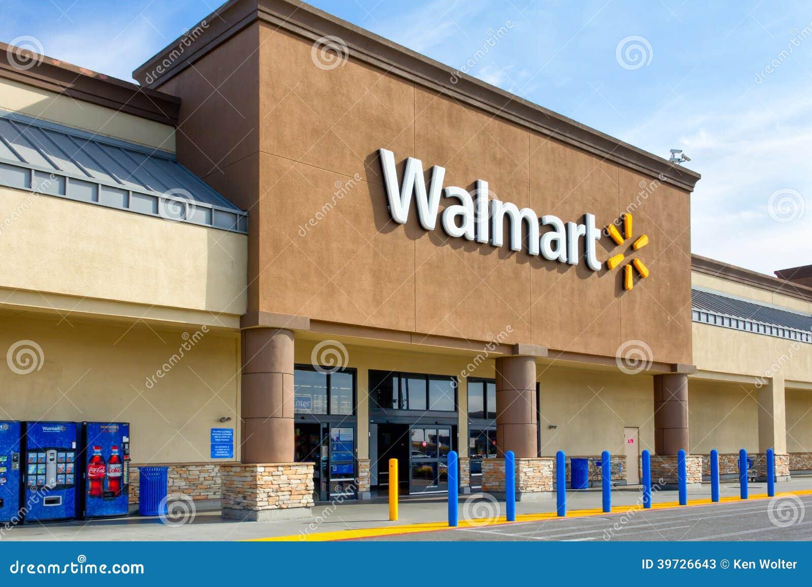 Download Экстерьер магазина Walmart редакционное стоковое фото. изображение насчитывающей экстерьер - 39726643