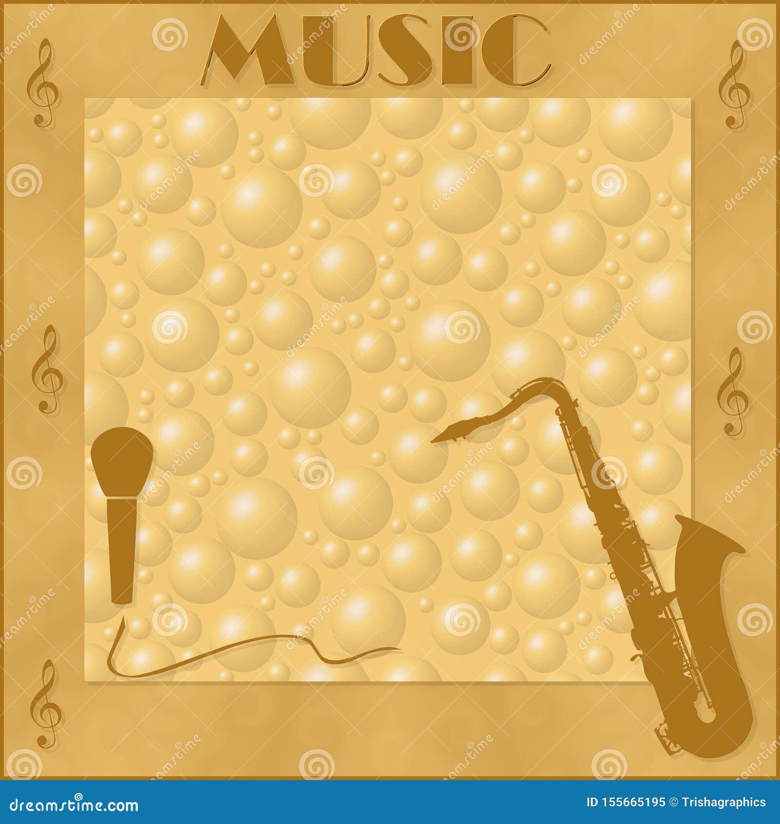 Элегантная рамка с музыкальными инструментами