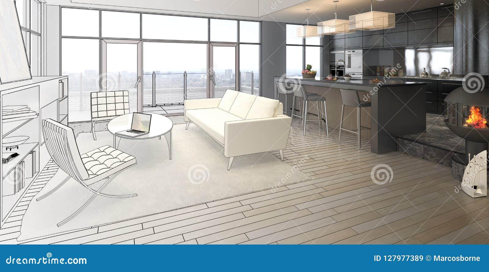 Элегантность чертежа просторной квартиры