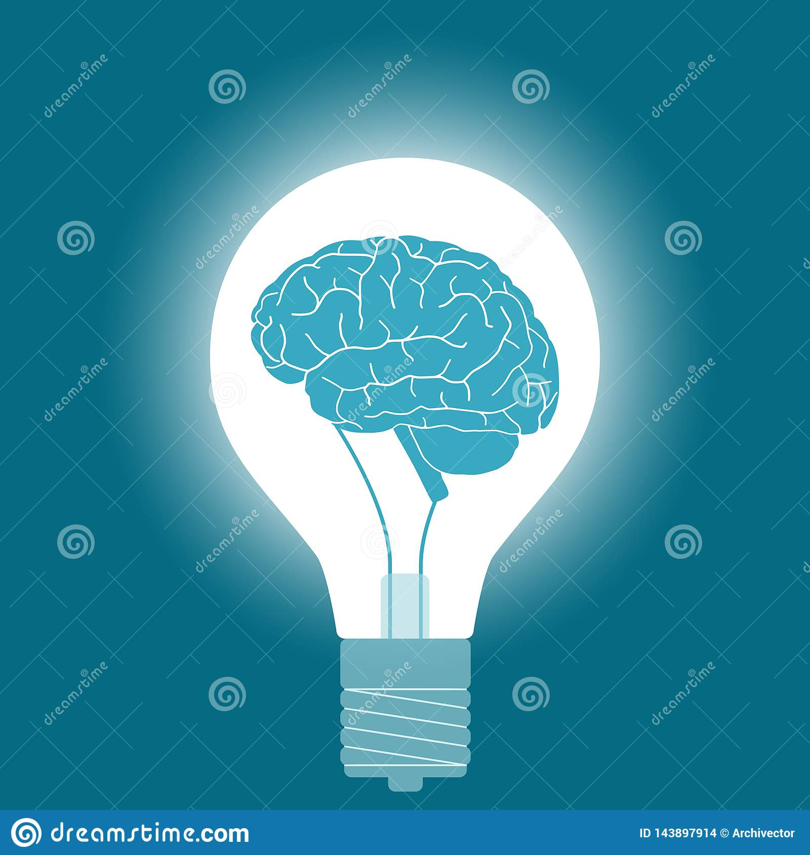 Электрическая лампочка с мозгом