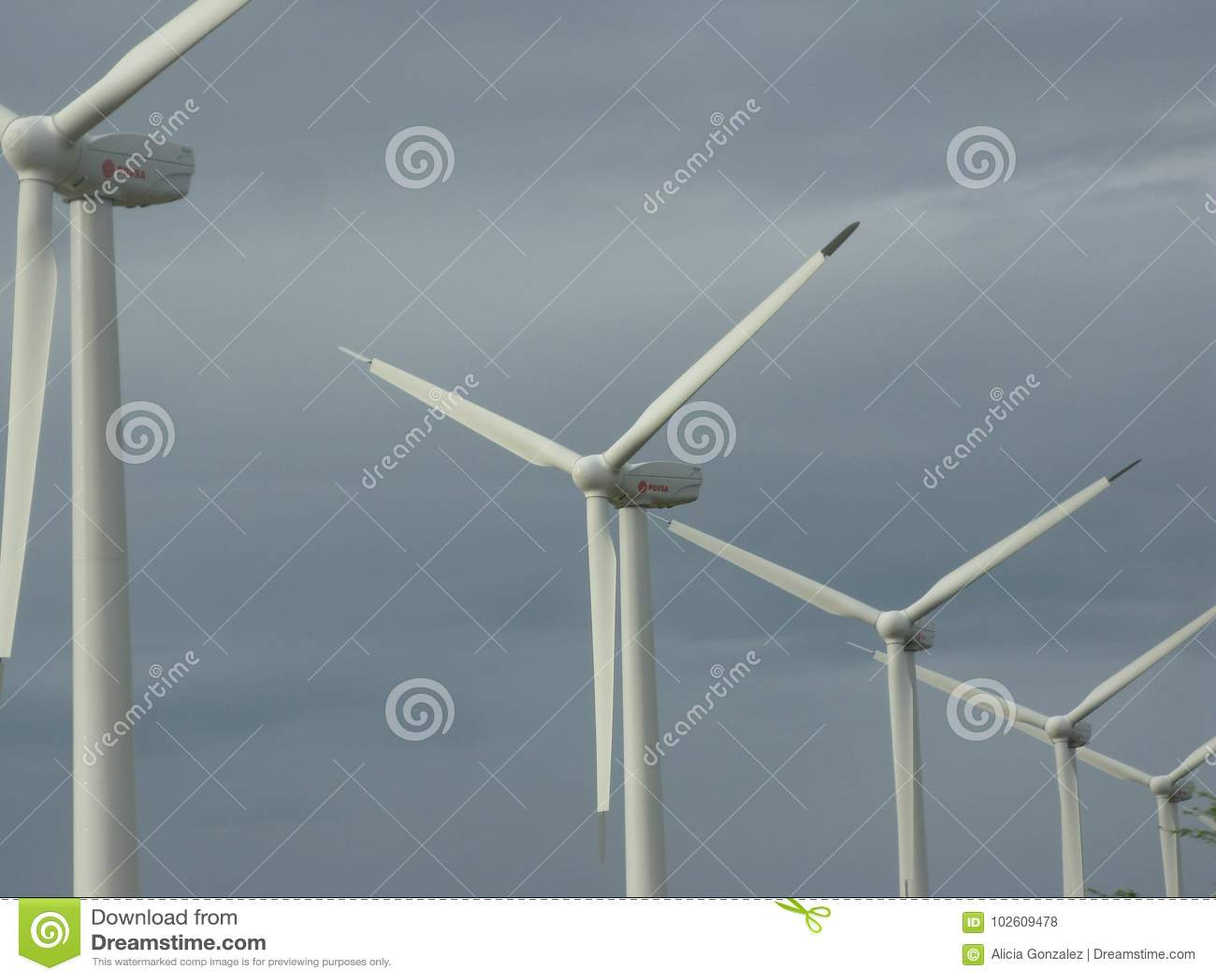 Электрическая станция энергии ветра, положение Венесуэла сокола