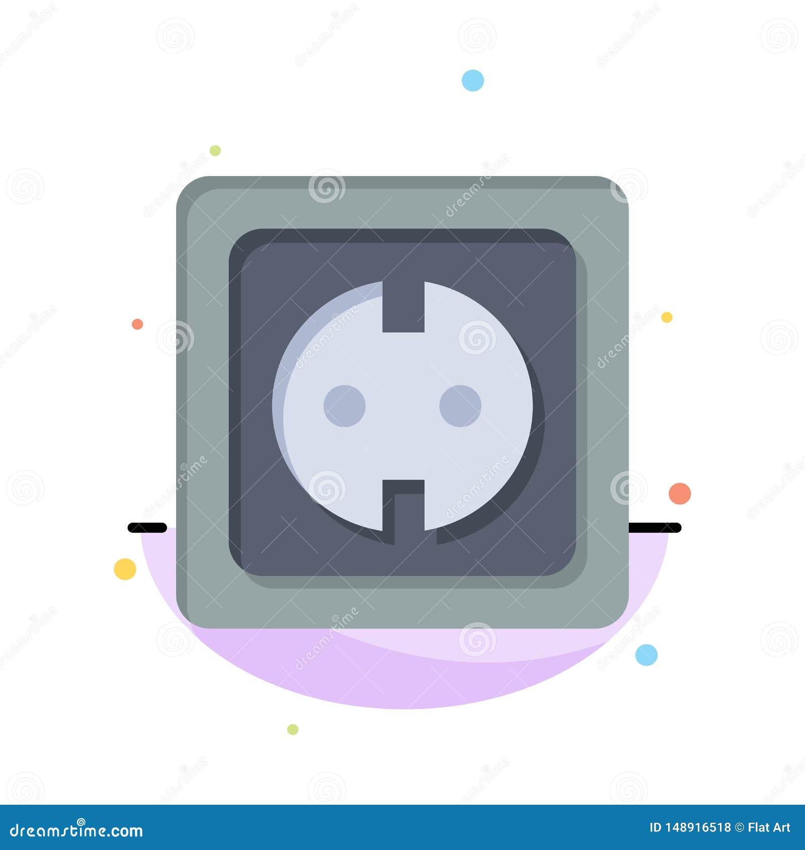 Электрический, энергия, штепсельная вилка, электропитание, шаблон логотипа дела гнезда r