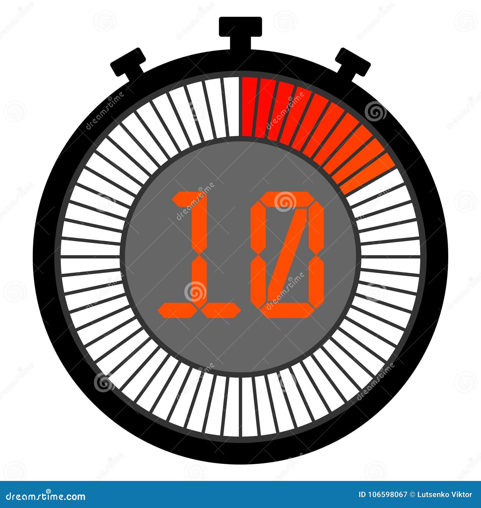 электронный секундомер при шкала градиента начиная с красным цветом 10