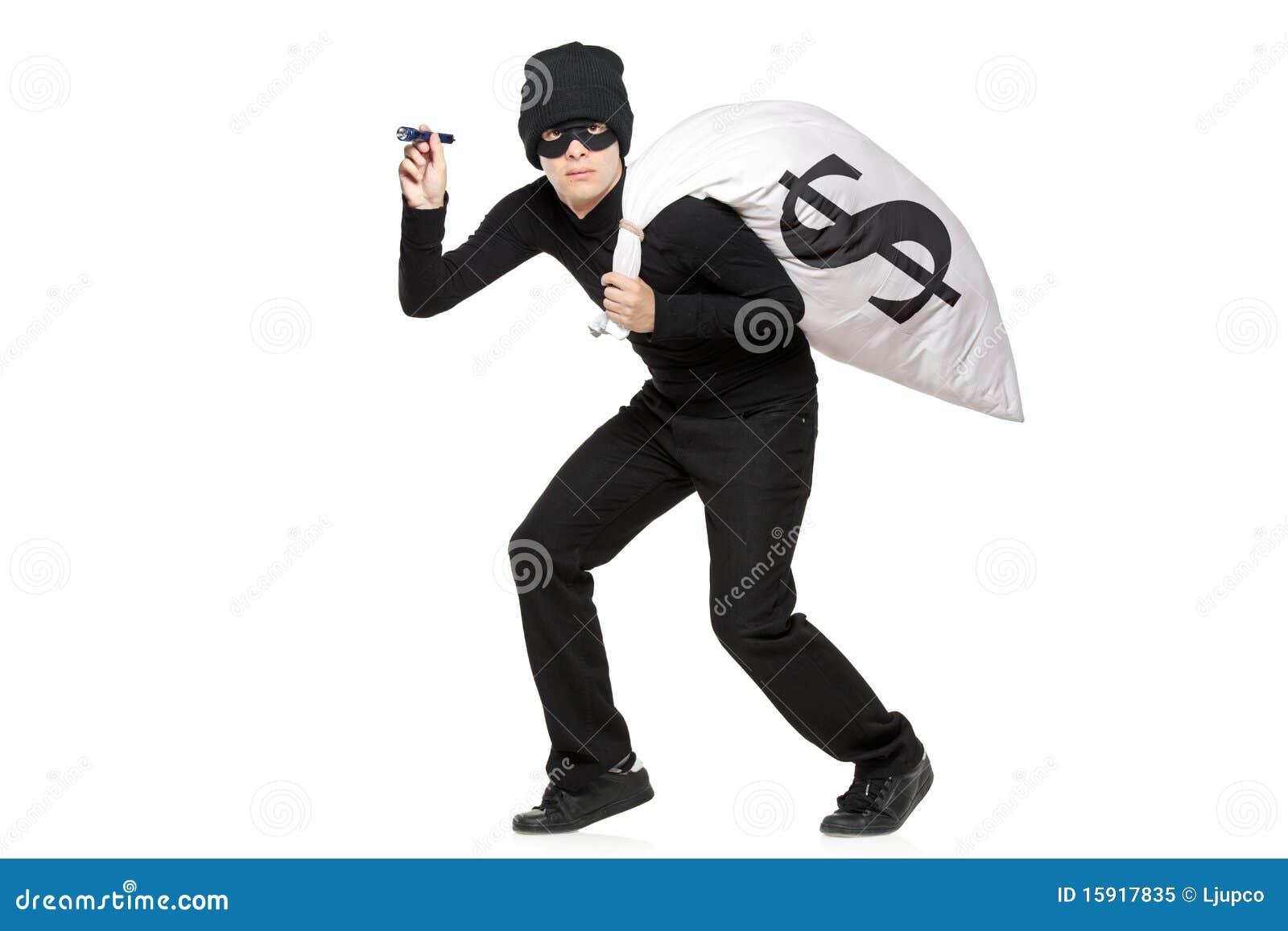электрофонарь мешка вручает похитителя
