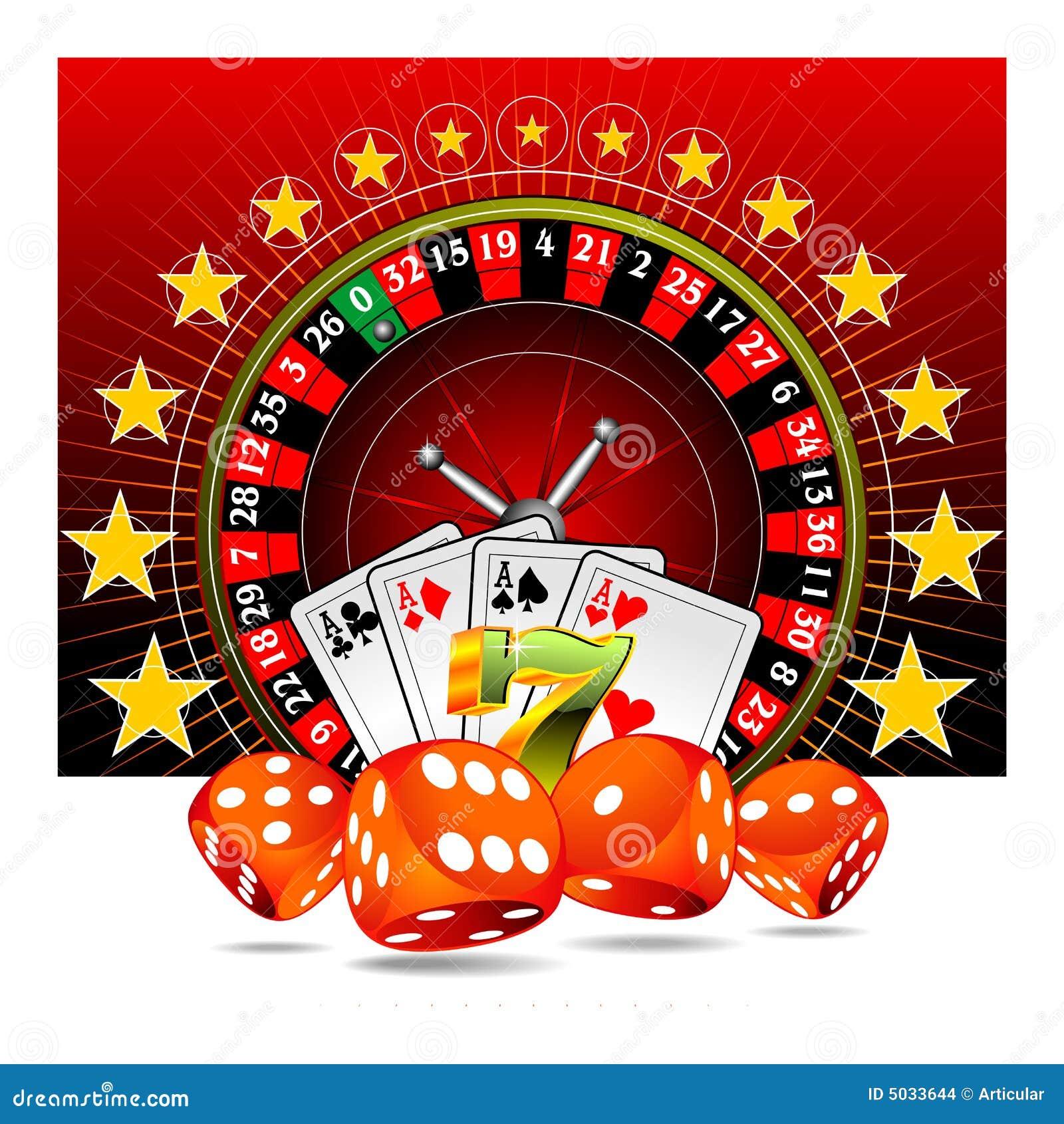 элементы казино играя в азартные игры иллюстрация
