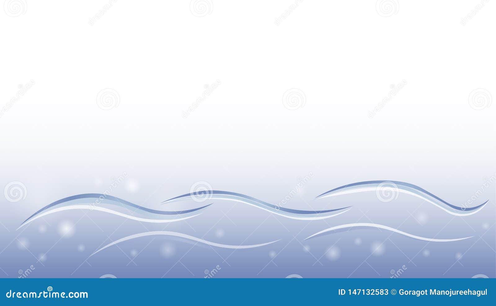 Элемент вектора конспекта дизайна обоев голубого движения воды жидкостный мягкий