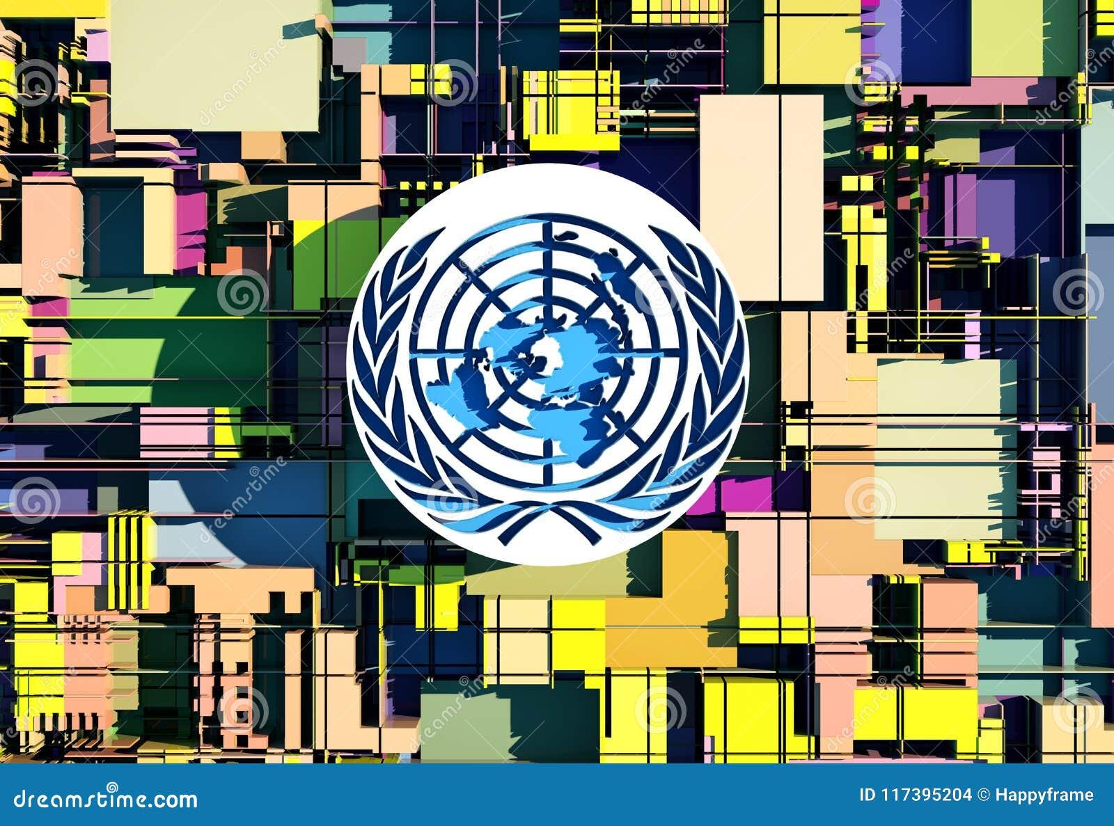 Эмблема иллюстрации Организации Объединенных Наций (ООН)