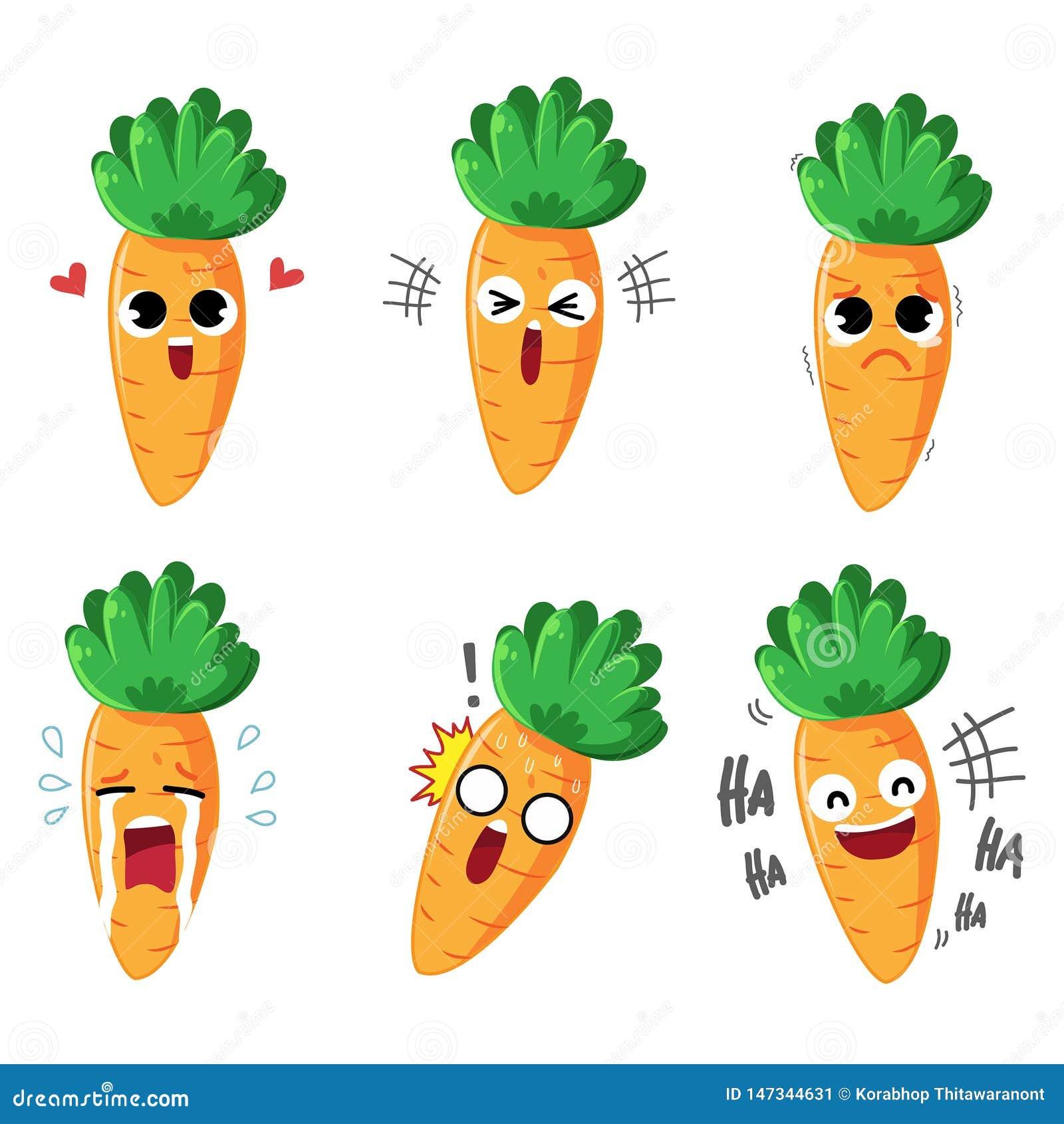Эмоция и действия моркови характера