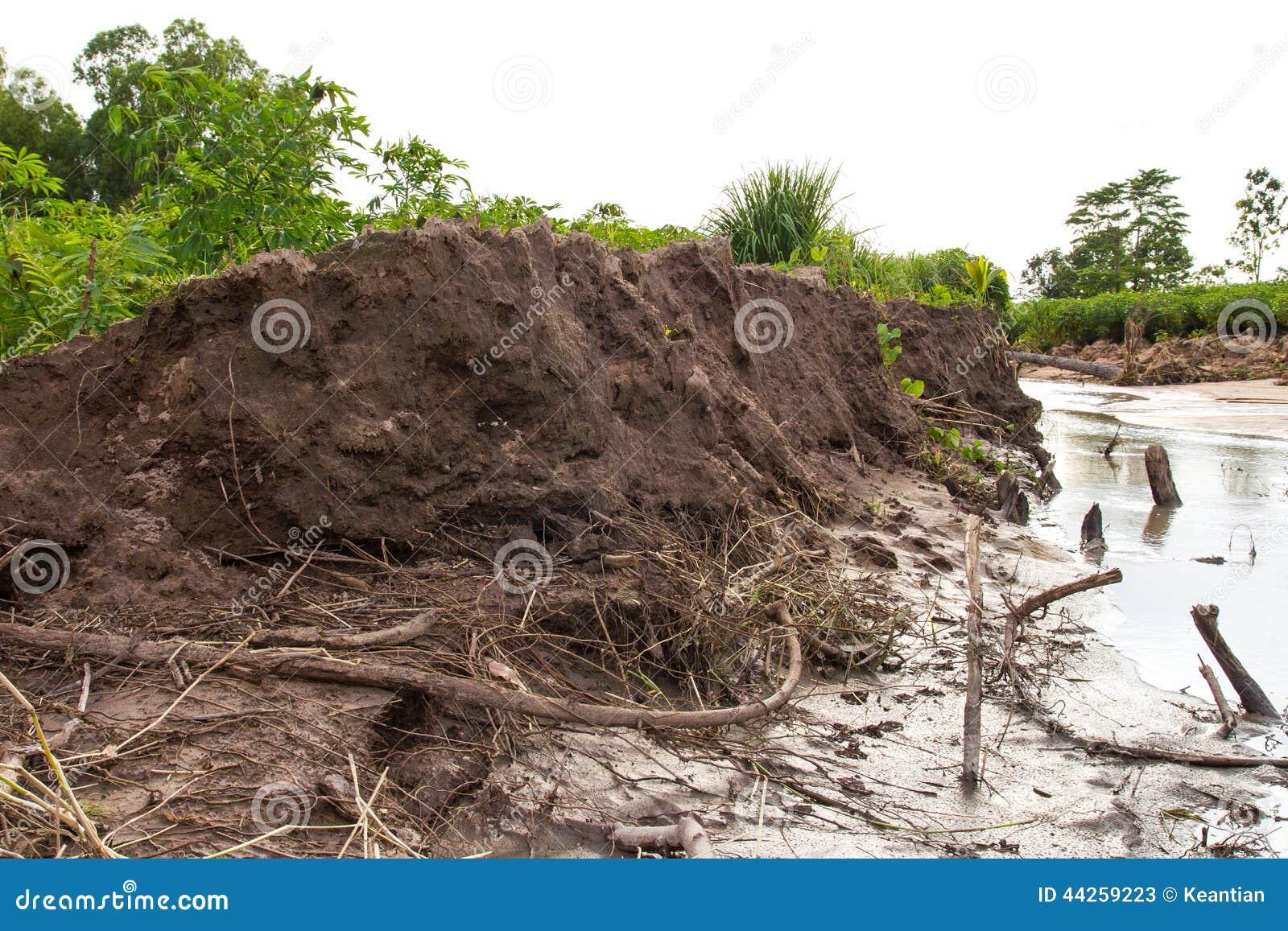 Эрозия почвы оползней