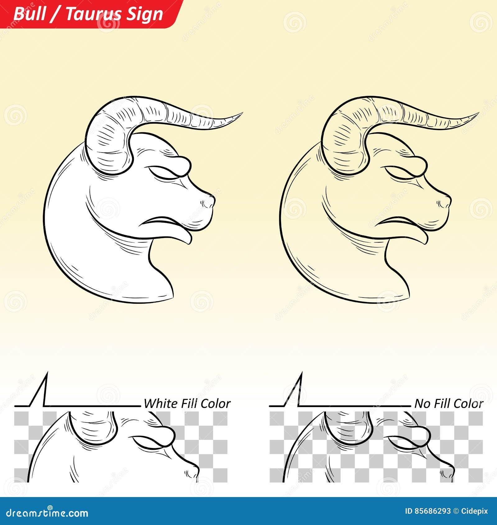 Эскиз знака звезды зодиака Тавра