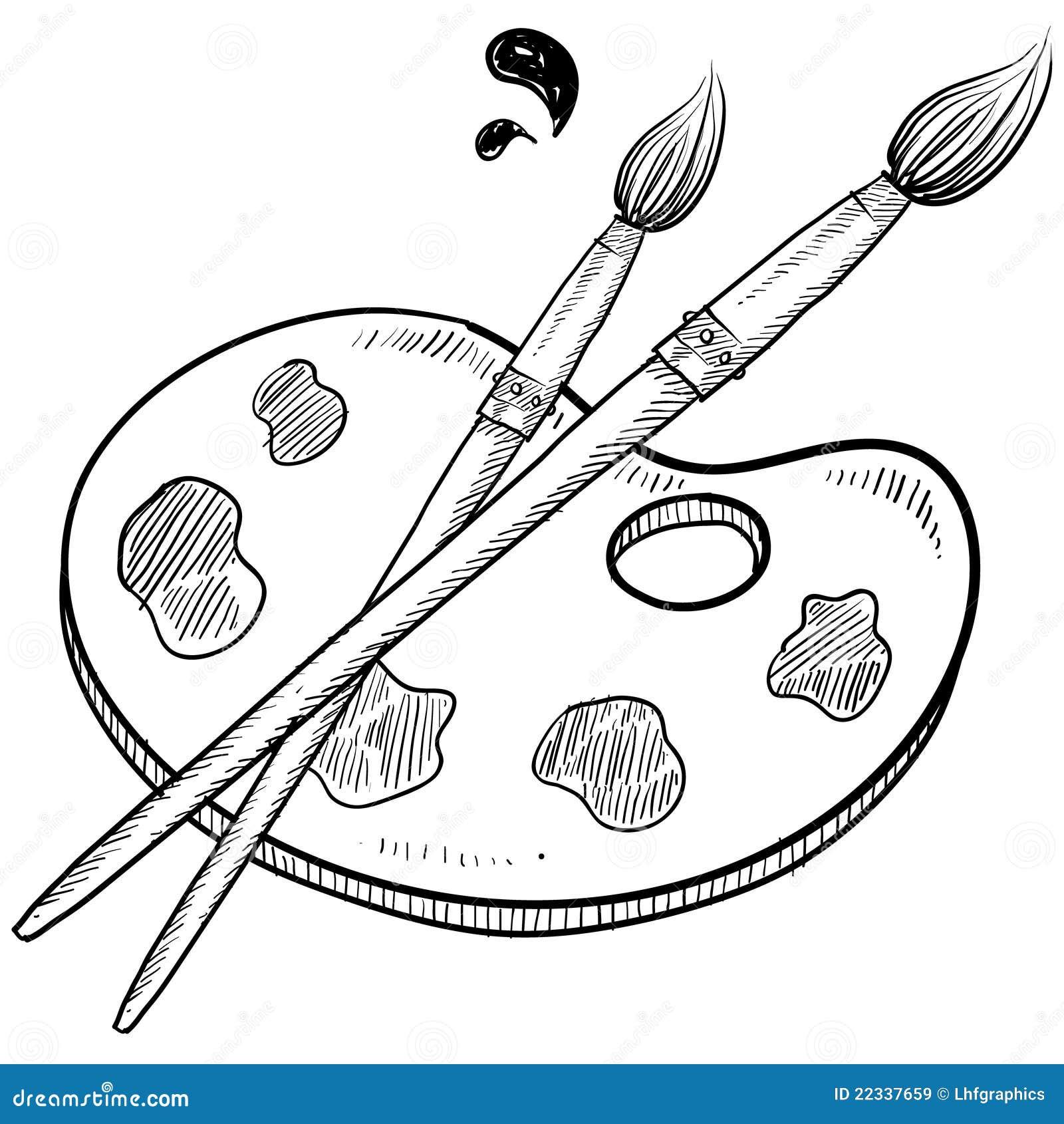 Рисовать кисточками рисунки