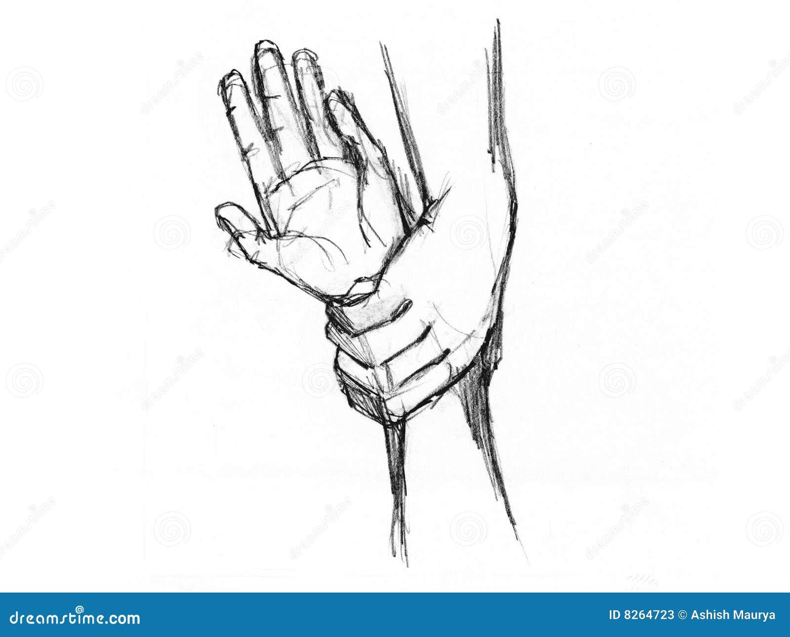 Рука рисунок для эскизов тату