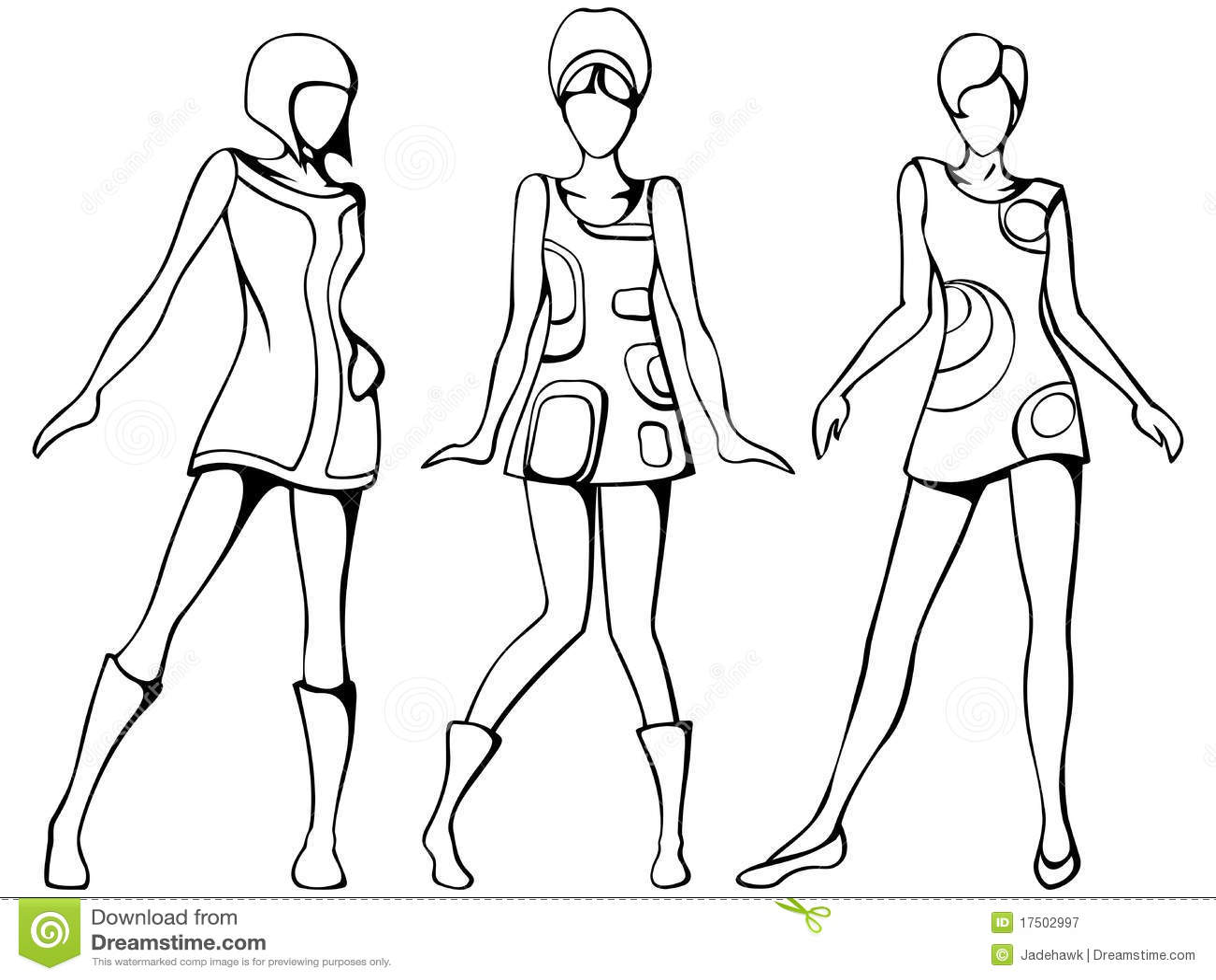эскиз mod девушок