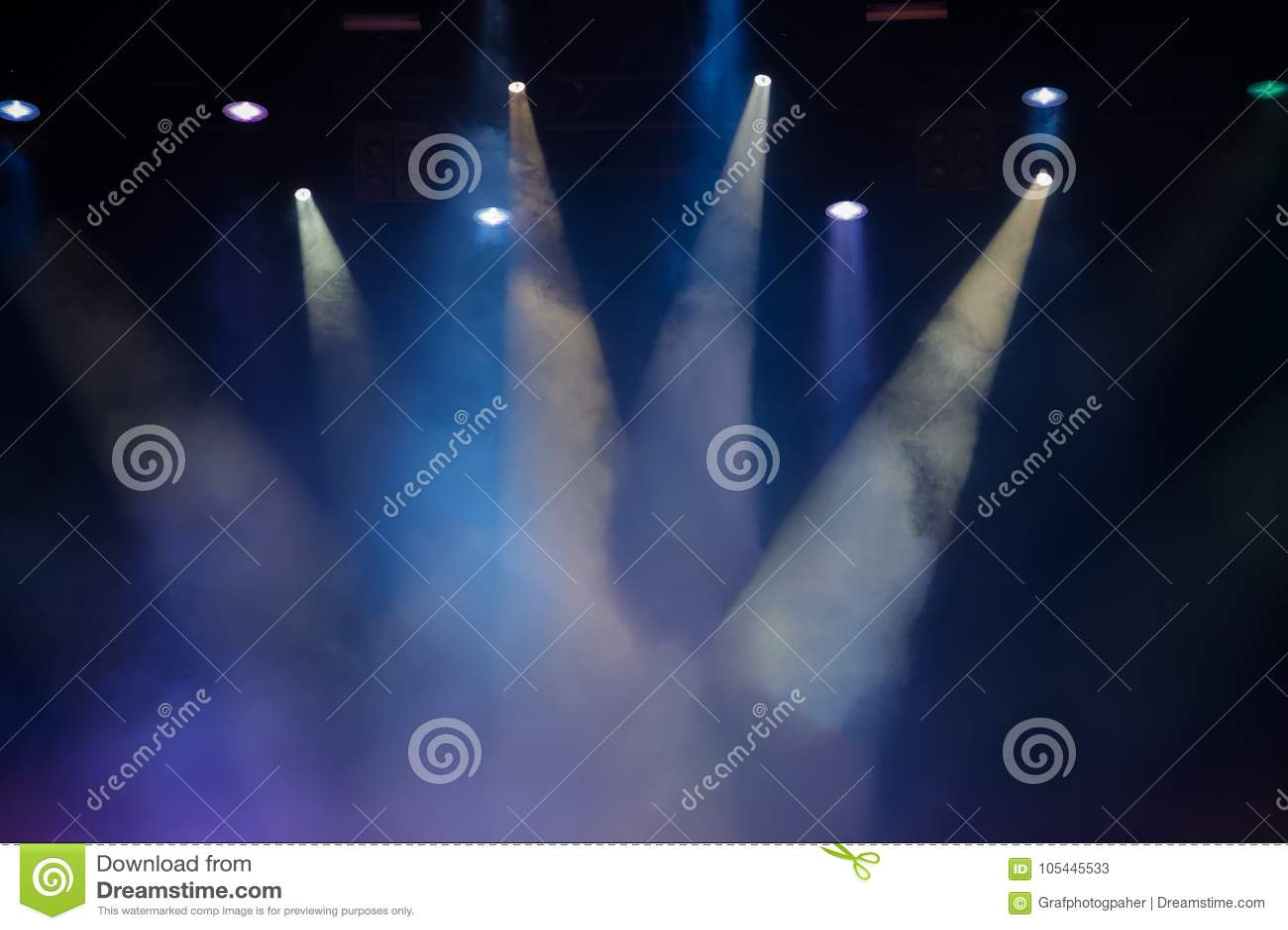 Этап концерта Поставьте света Красочная предпосылка светов этапа