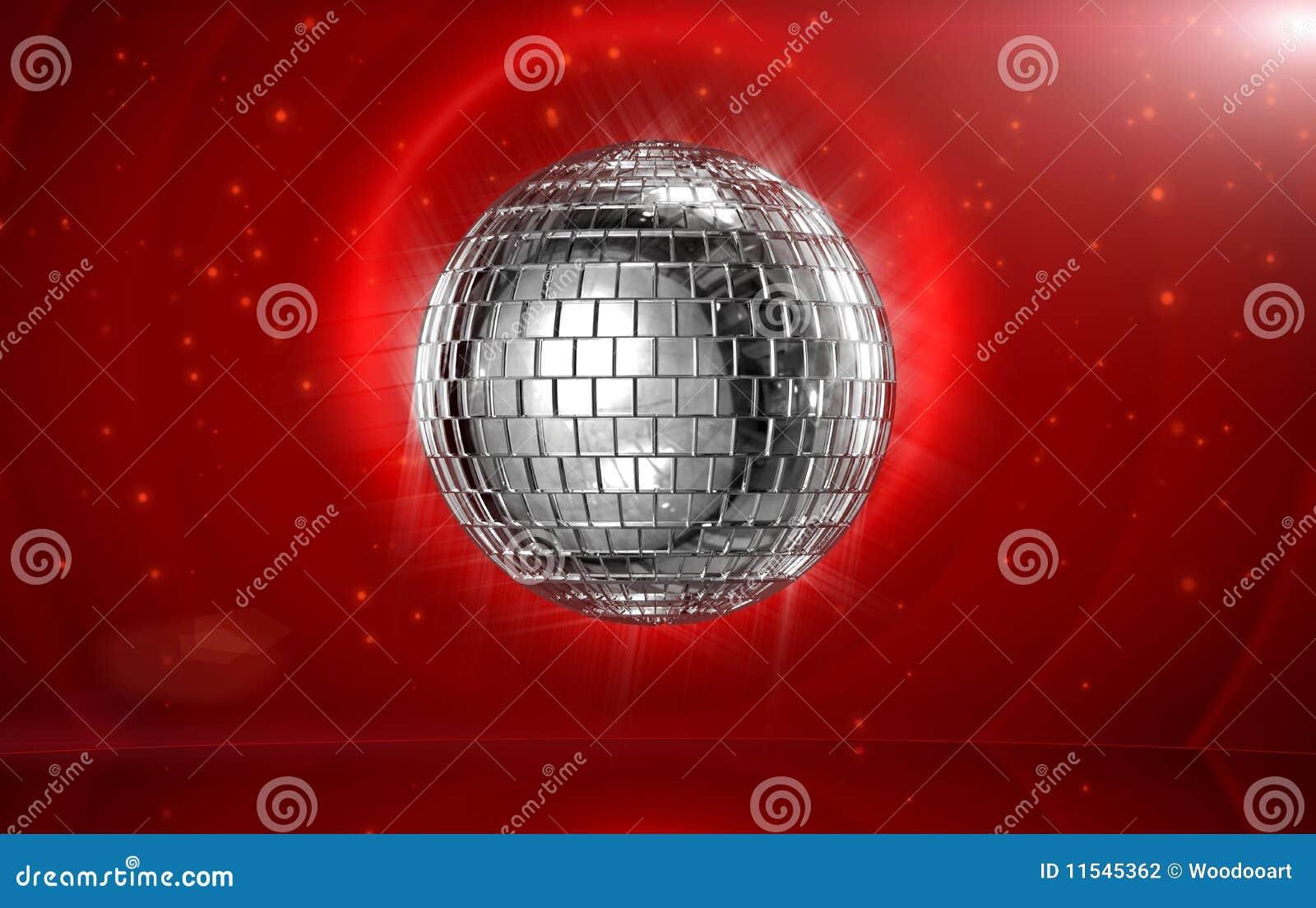 этап красного цвета диско шарика