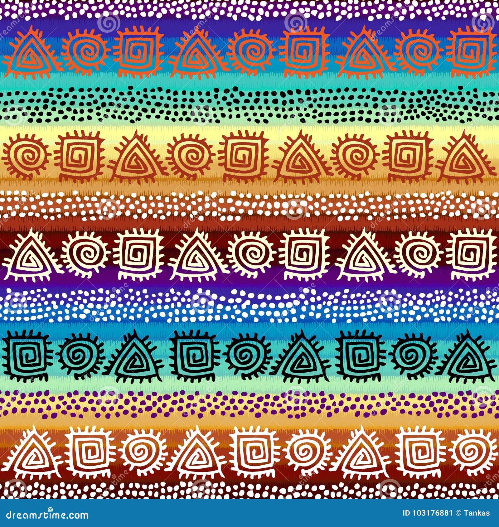 Этническая безшовная картина в африканском стиле