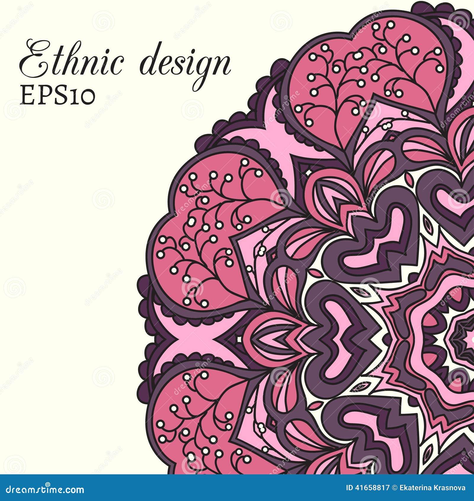 Этническая карточка дизайна