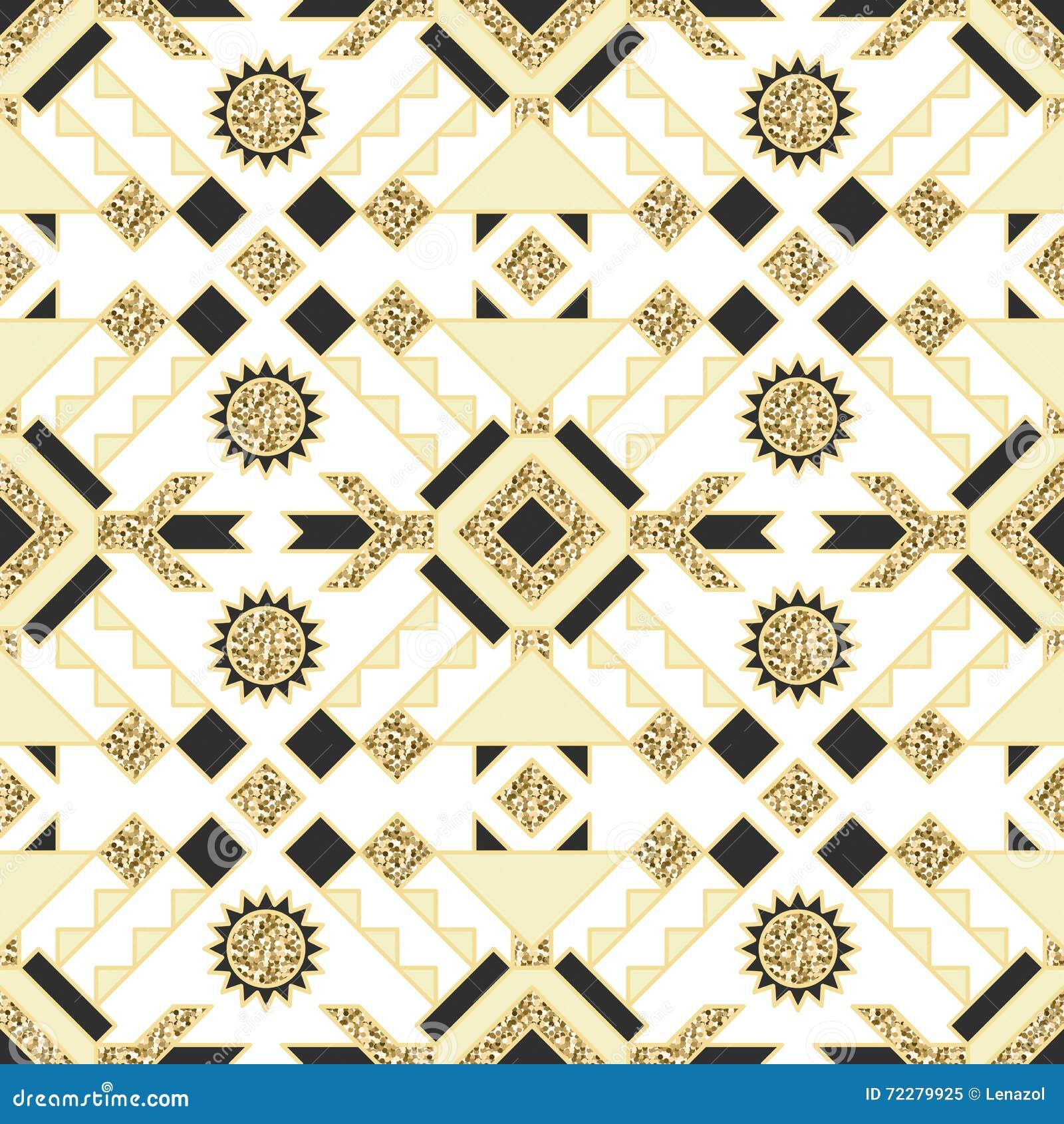 Download Этнический индийский геометрический золотой дизайн картины Иллюстрация вектора - иллюстрации насчитывающей картина, конспектов: 72279925