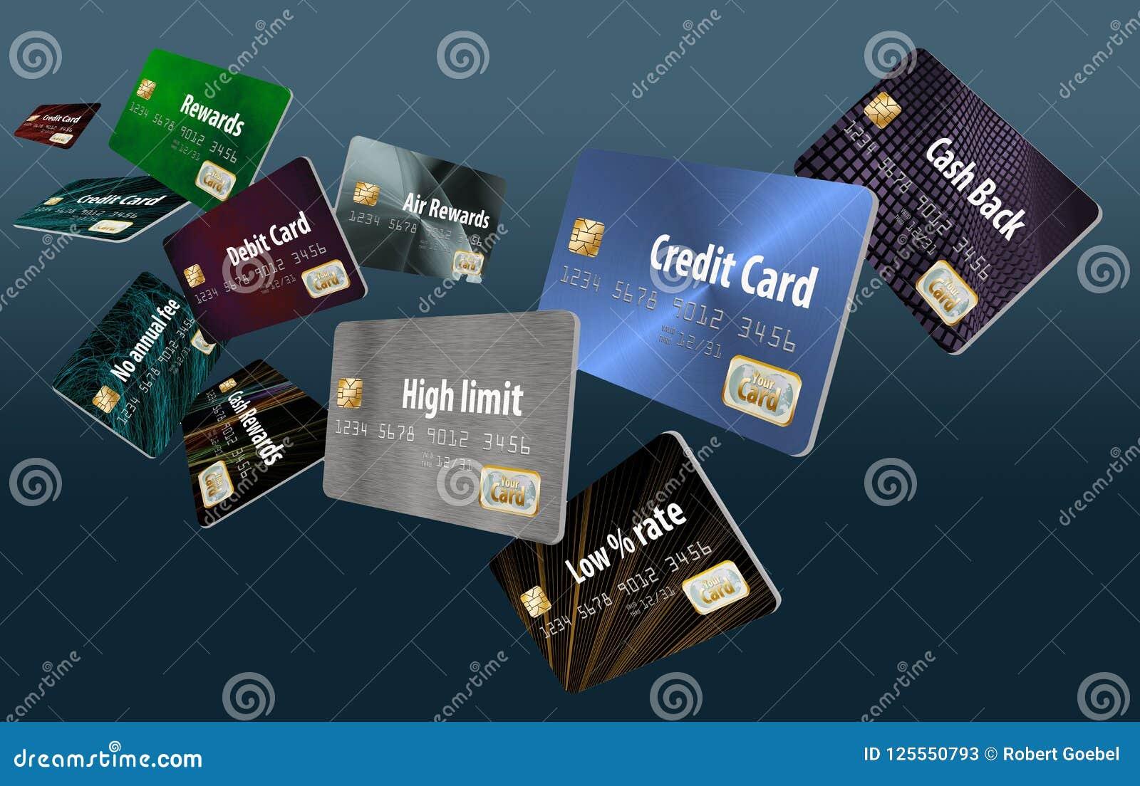 Это большая группа в составе летание, плавая кредитные карточки
