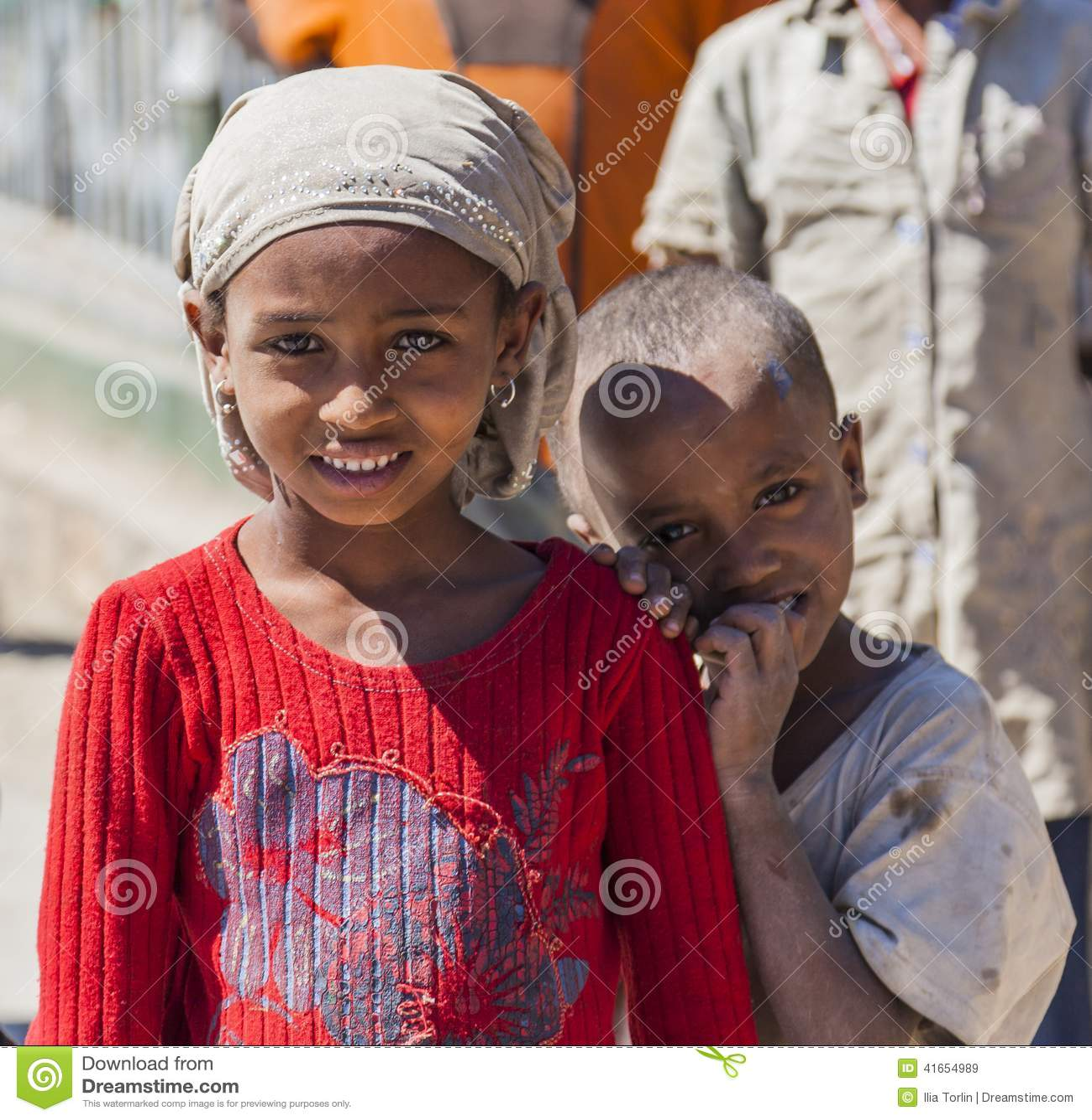 Эфиопские дети Hirna эфиопия