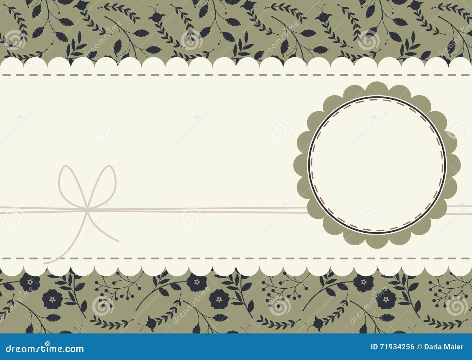 Элегантная поздравительная открытка с стильными цветками, заводами и ягодами o