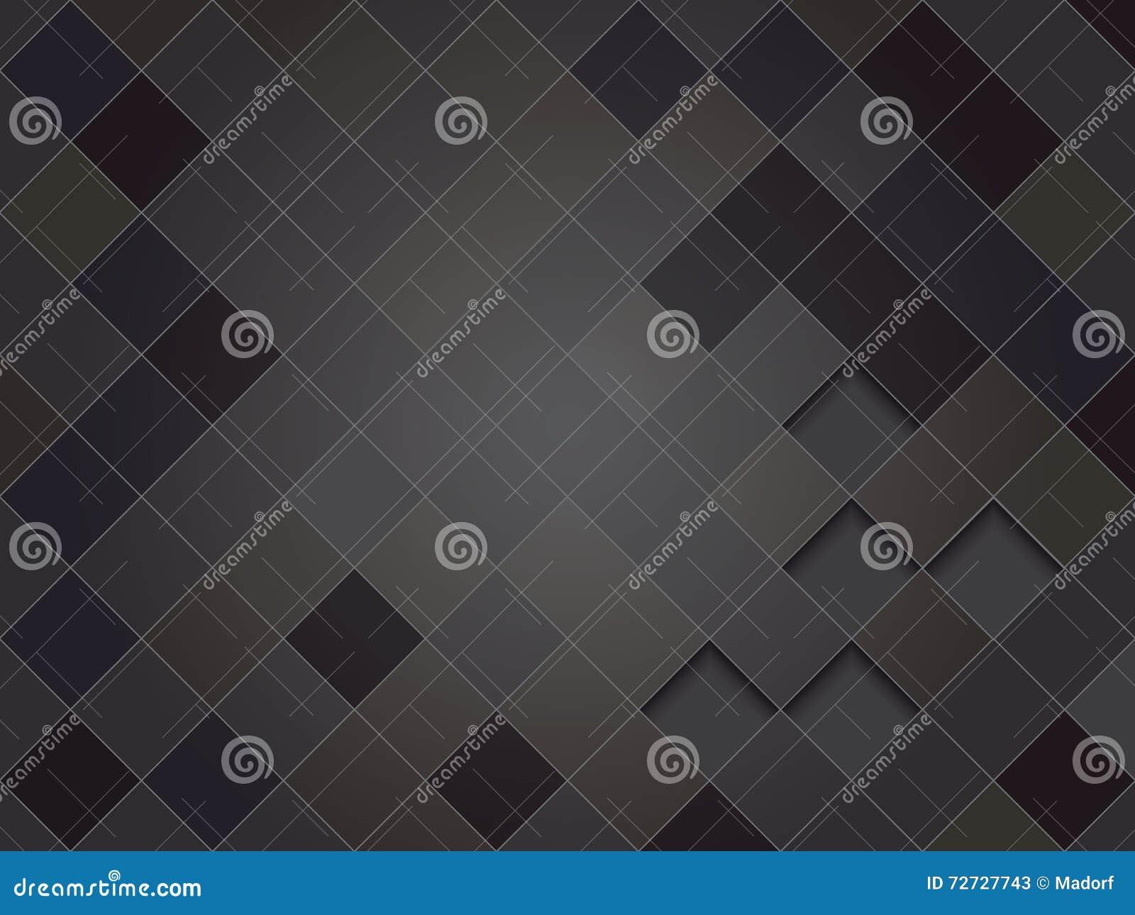 Элегантная черная геометрическая предпосылка вектора, squarish текстура