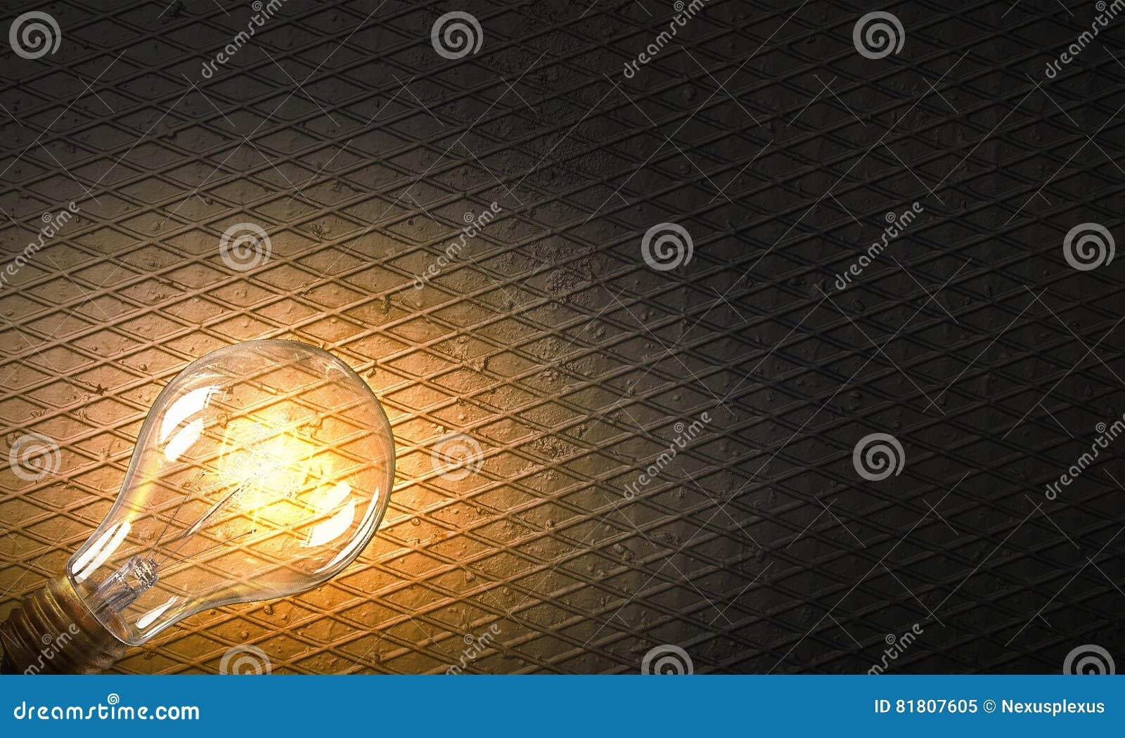 Электрическая лампочка на текстуре Мультимедиа