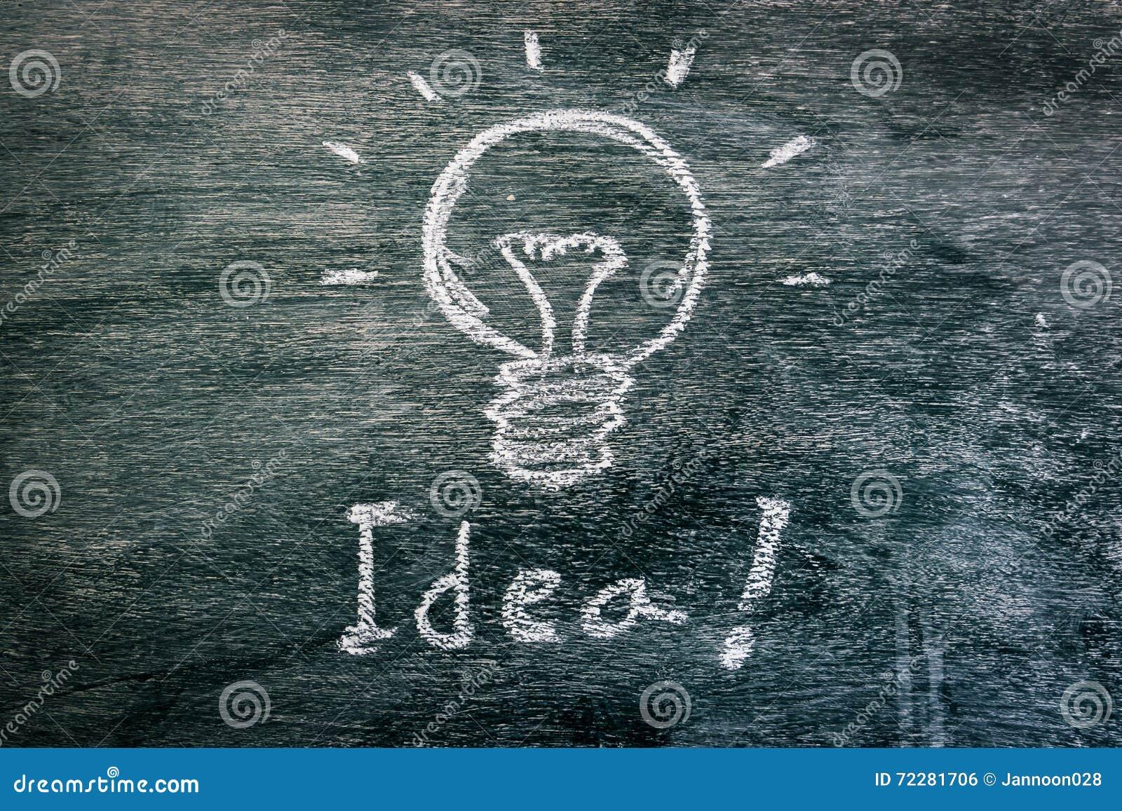 Download Электрическая лампочка для идеи на классн классном Стоковое Фото - изображение насчитывающей конспектов, brainwaves: 72281706