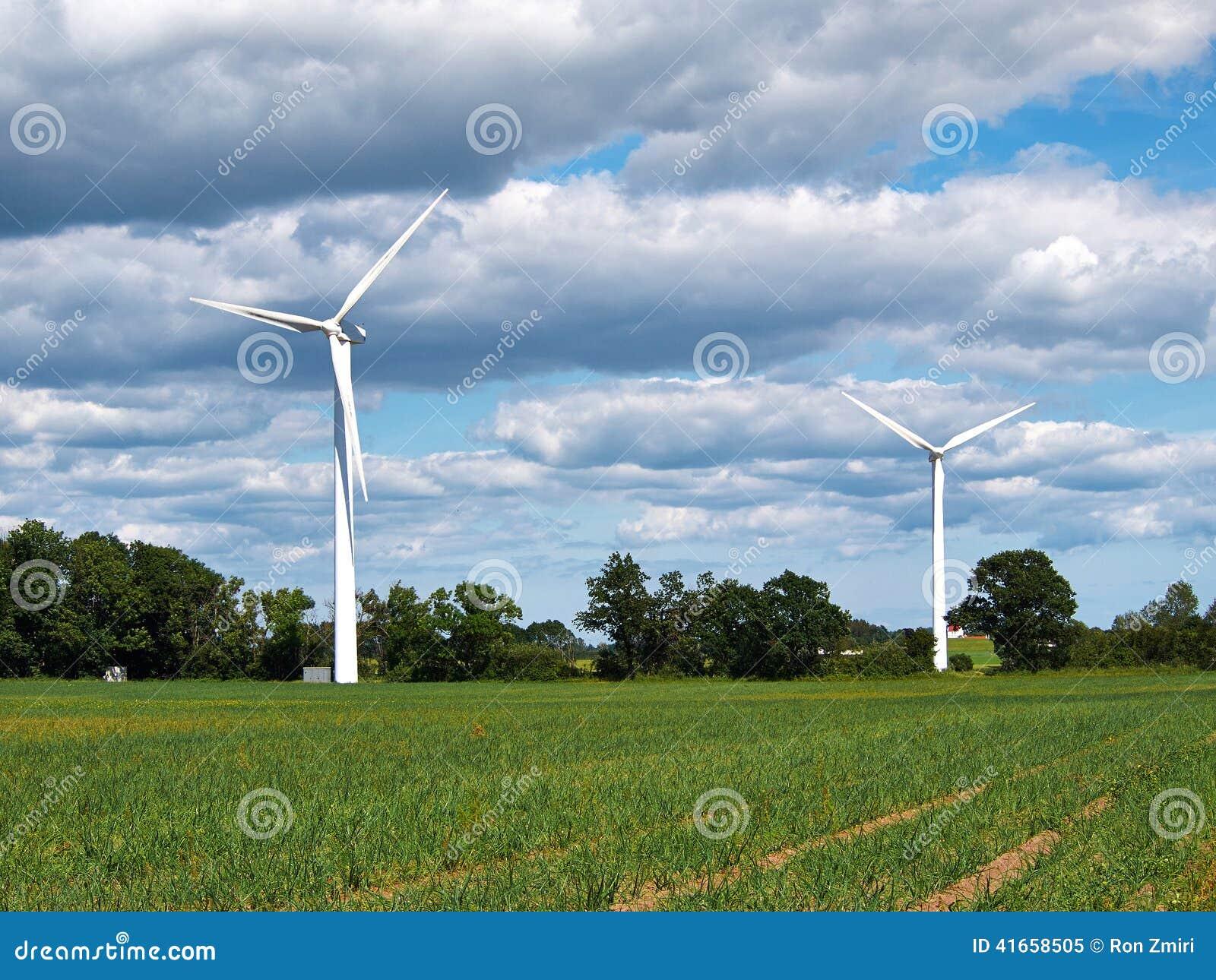 электричество производя ветер турбин