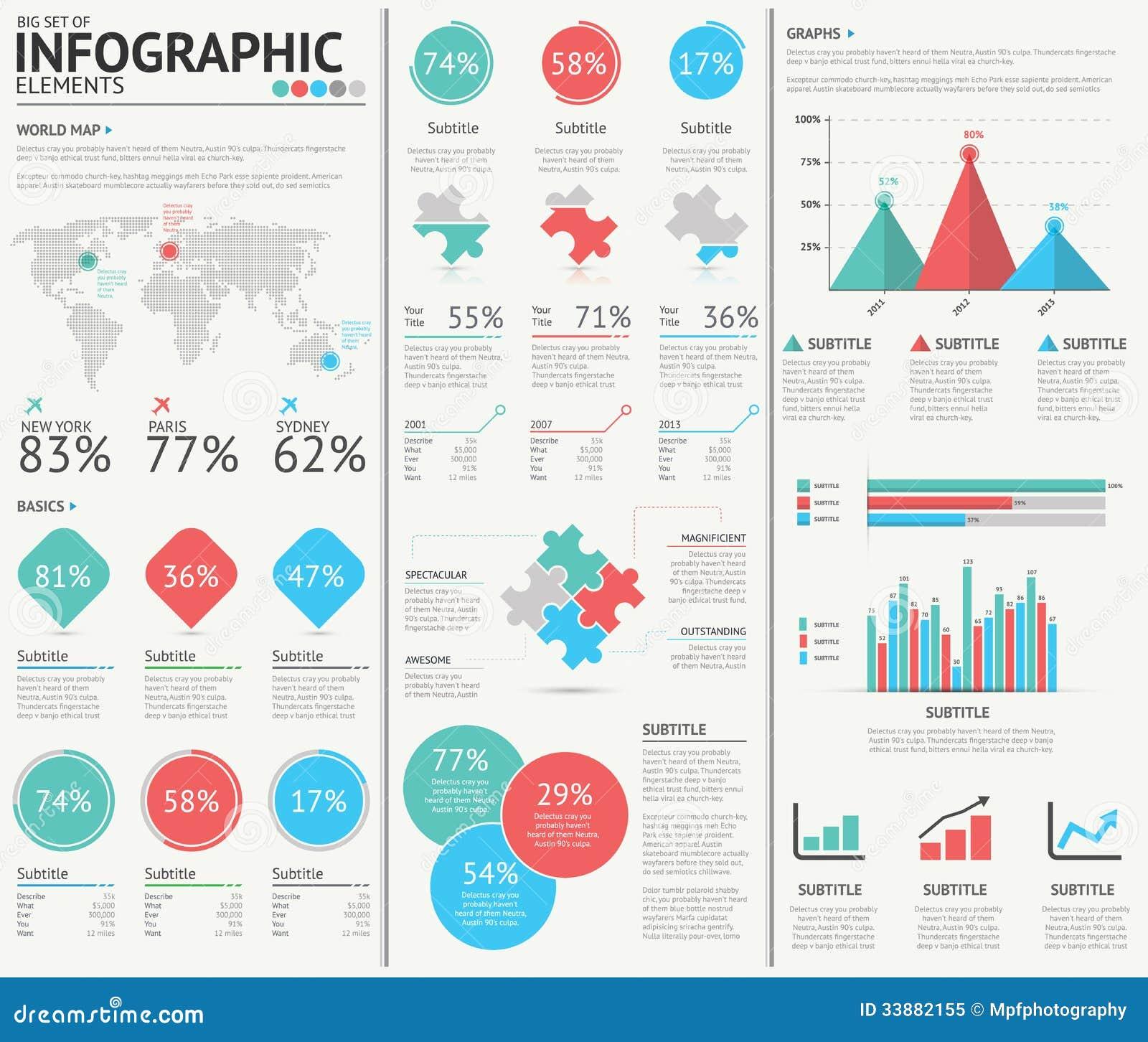 Элементы вектора веб-дизайна Infographic