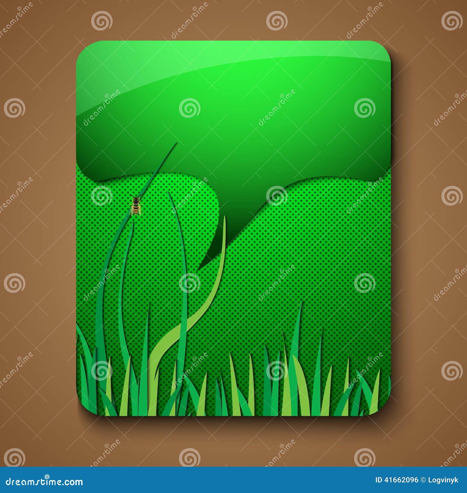 Элементы зеленого цвета брошюры продвижения Eco