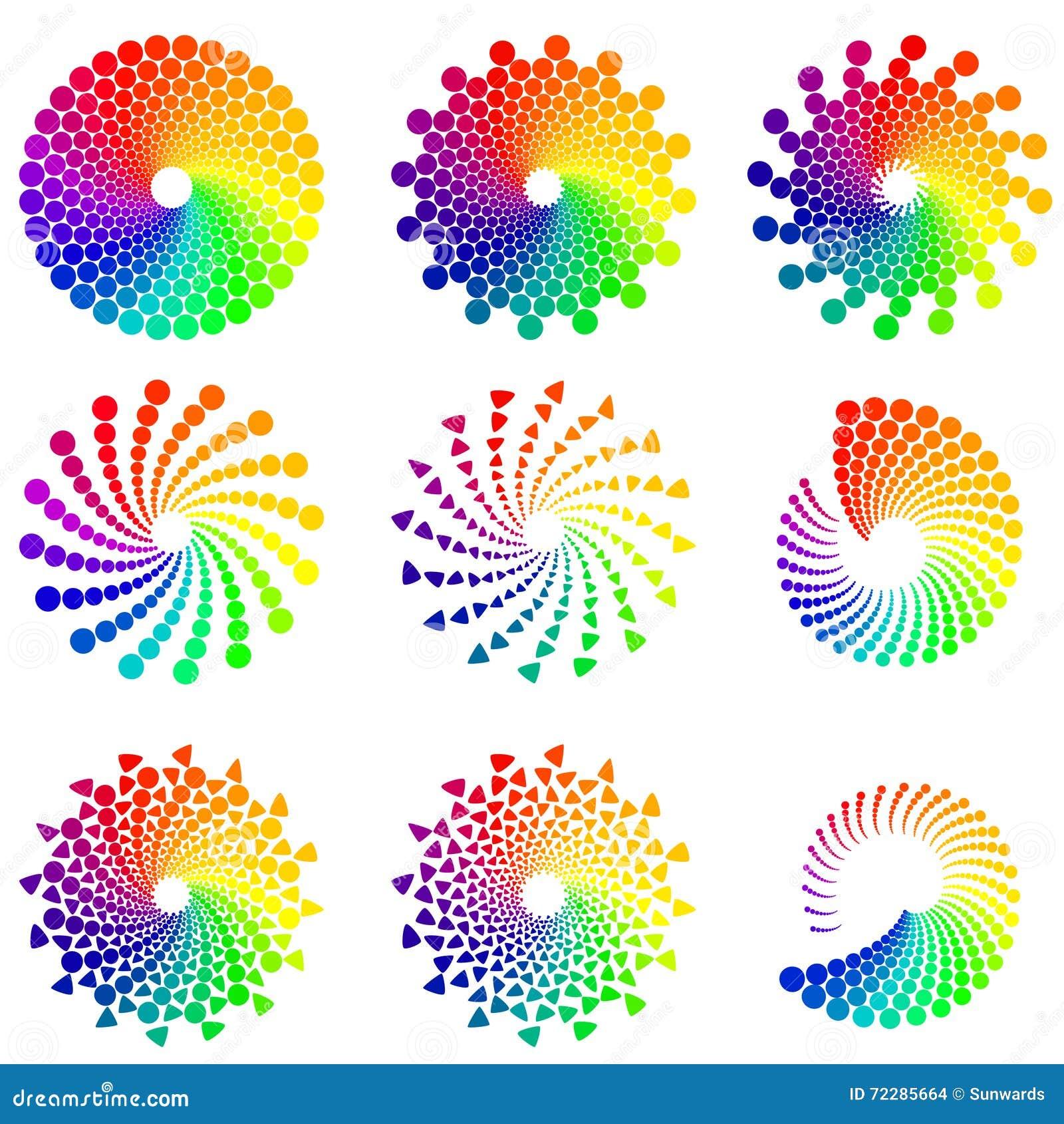 Download Элементы дизайна круга цвета Иллюстрация вектора - иллюстрации насчитывающей цветасто, красно: 72285664