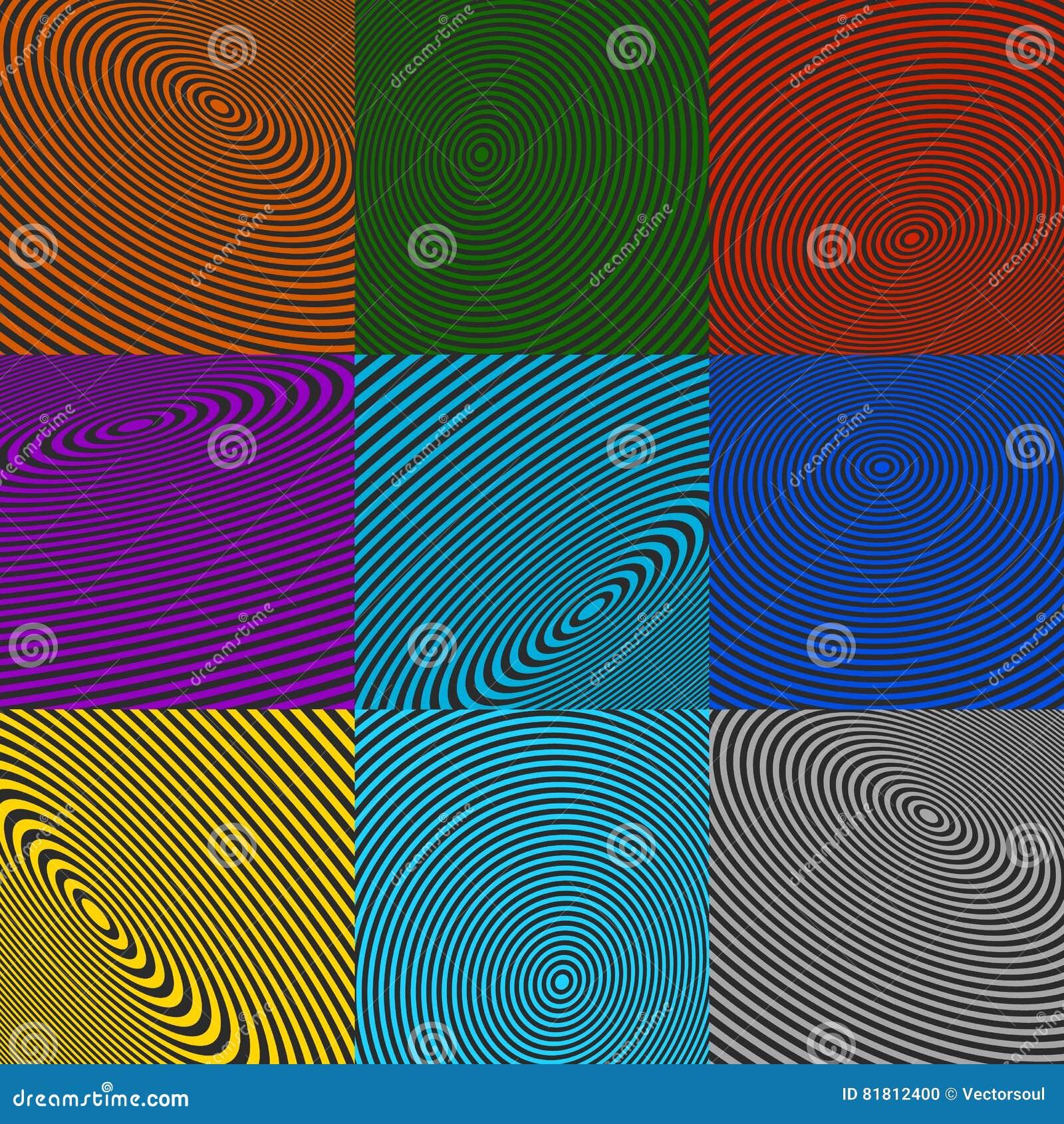 Элементы концентрического круга Излучающ, радиальные круги