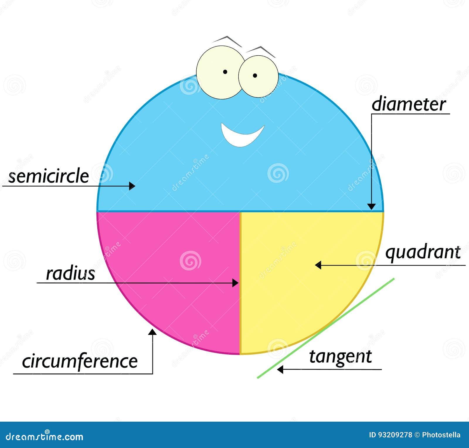 Элементы круга - школьное образование для детей